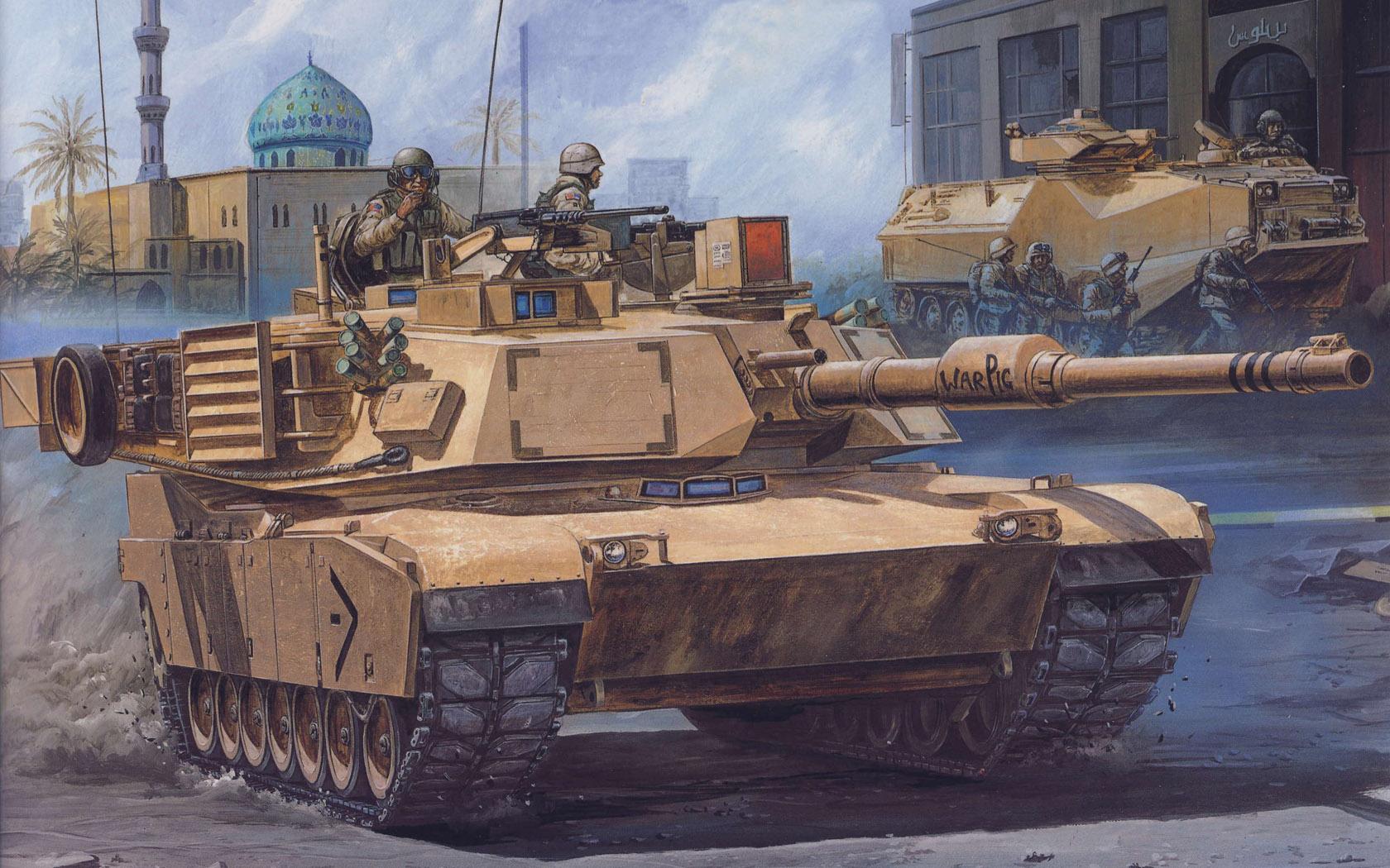 рисунок Abrams War Pig