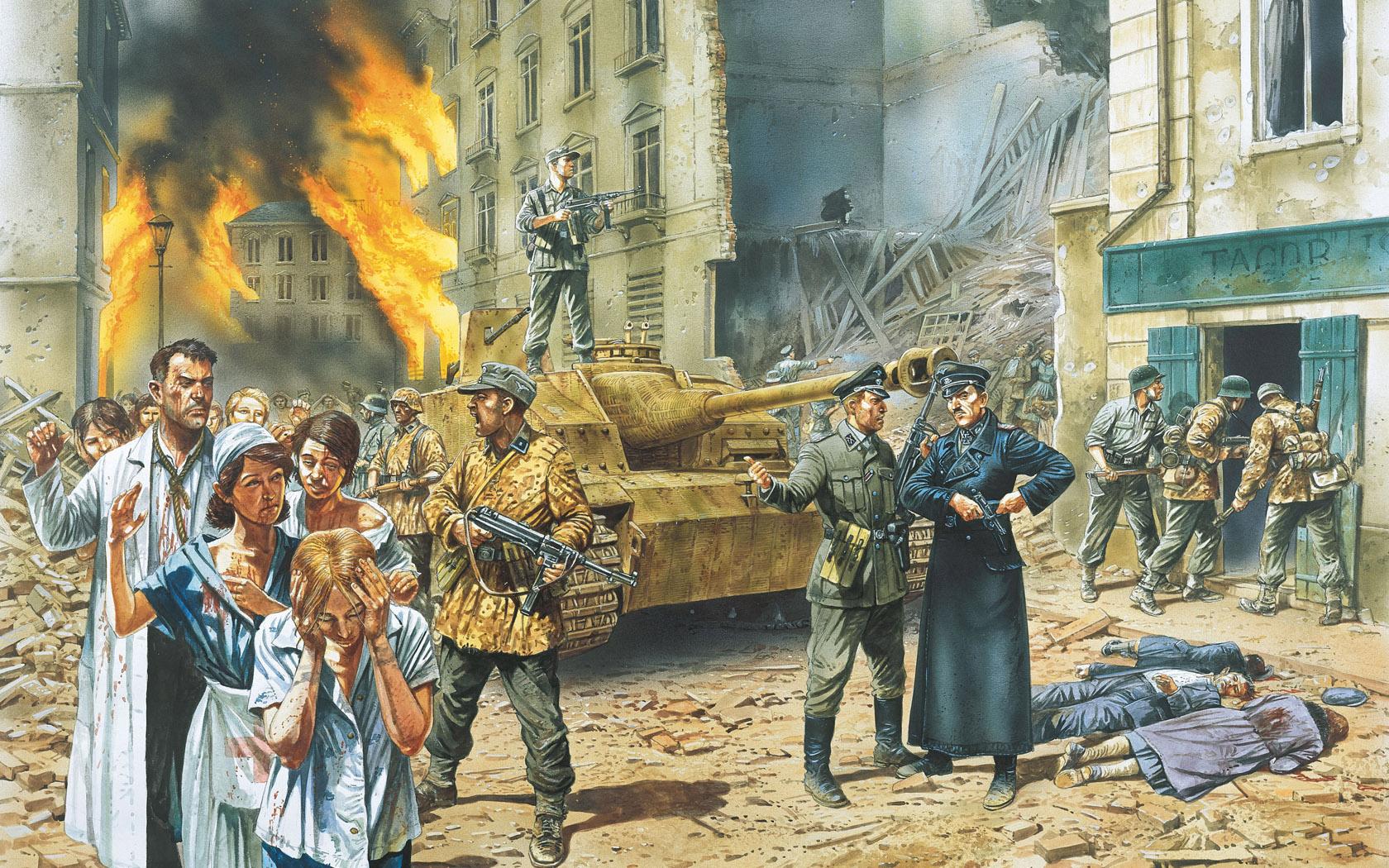 рисунок Подавление Варшавского восстания