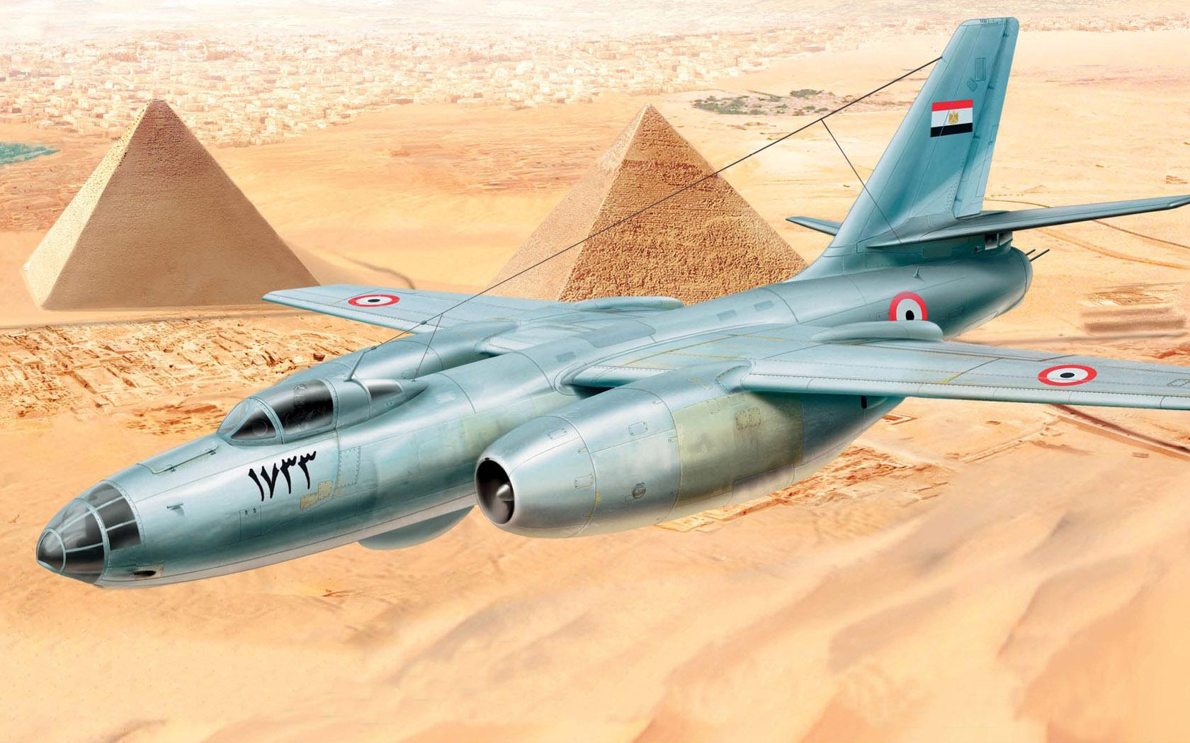 рисунок Ил-28 ВВС Египта
