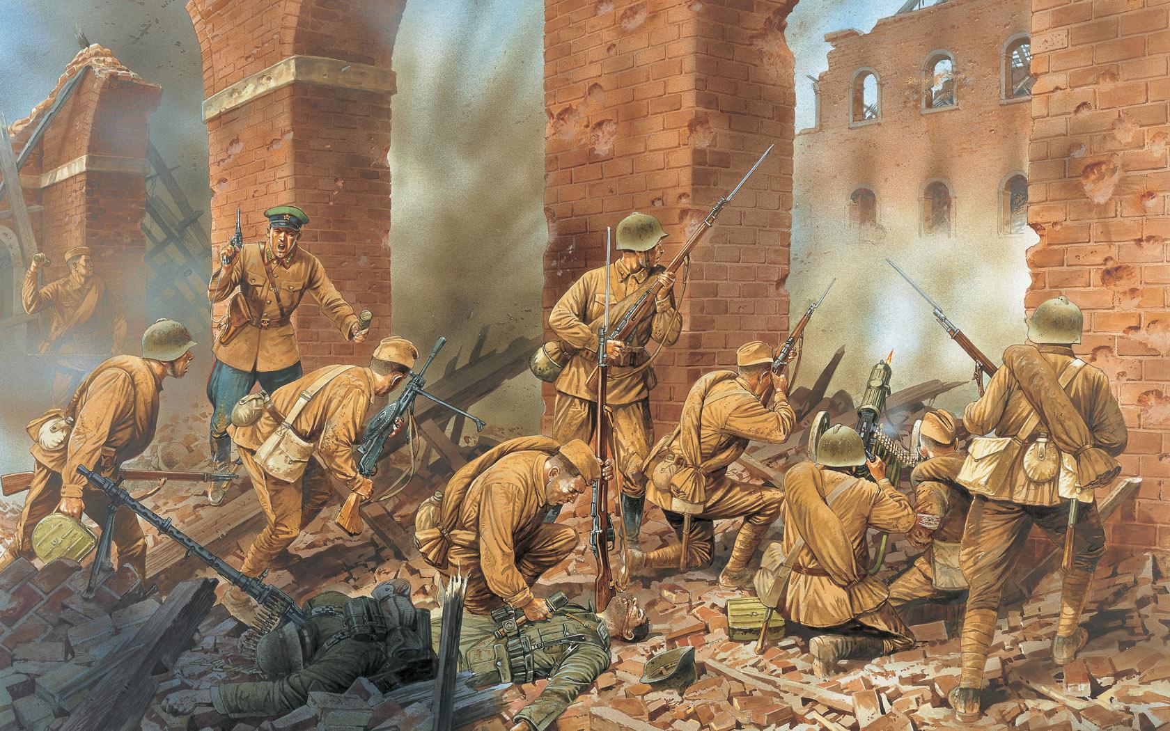 рисунок Оборона Брестской крепости