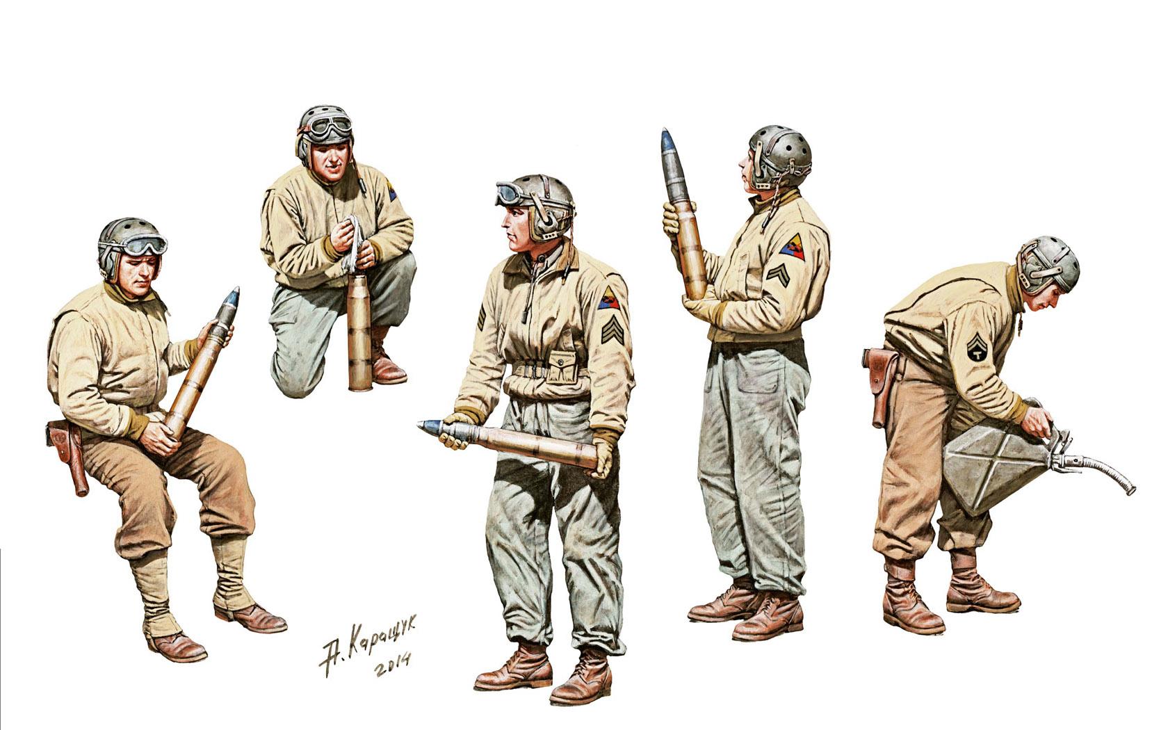 рисунок U.S. AMMO-LOADING TANK CREW