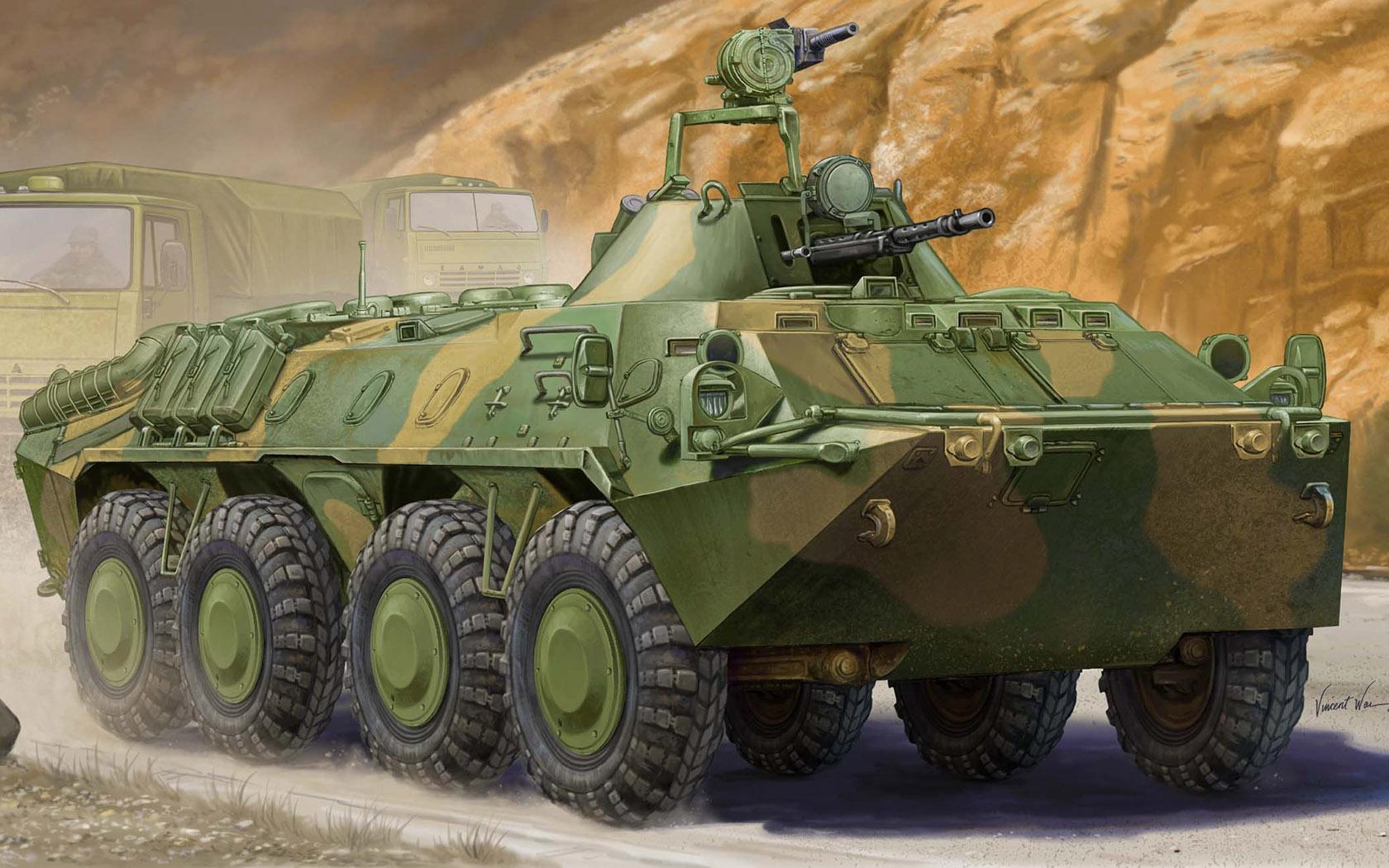рисунок БТР-70 в Афганистане