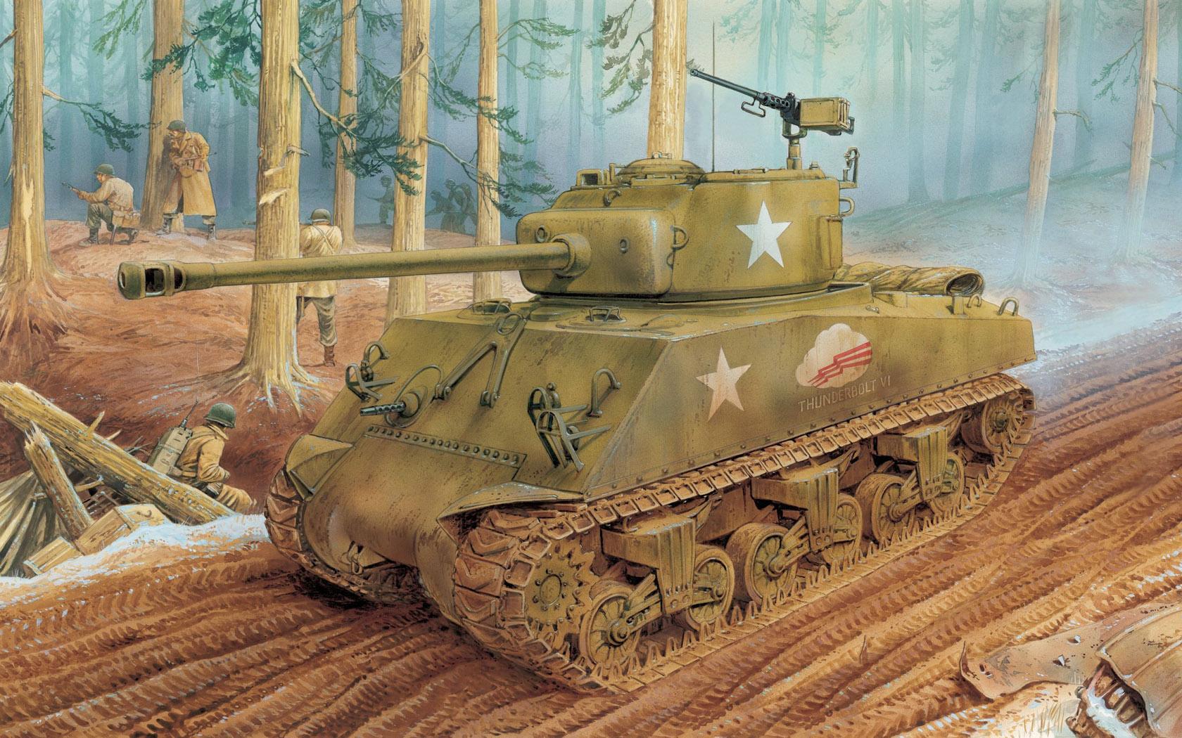 рисунок M4A3 (76)W