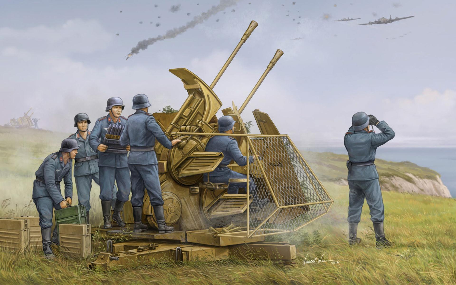 рисунок 37mm Flak 43 Zwilling
