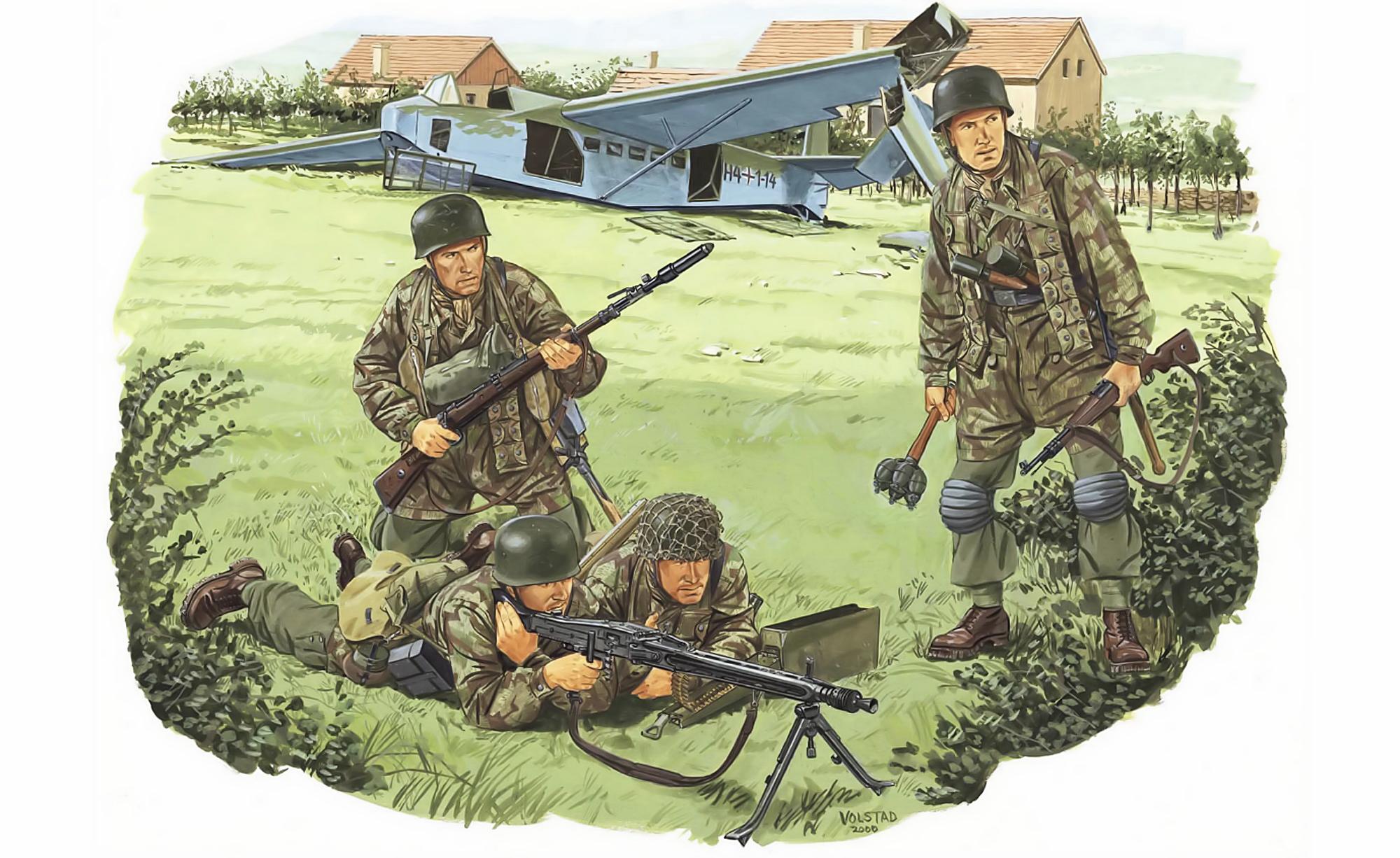 рисунок Fallschirmjager Batallion 500 (Drvar, 1944)