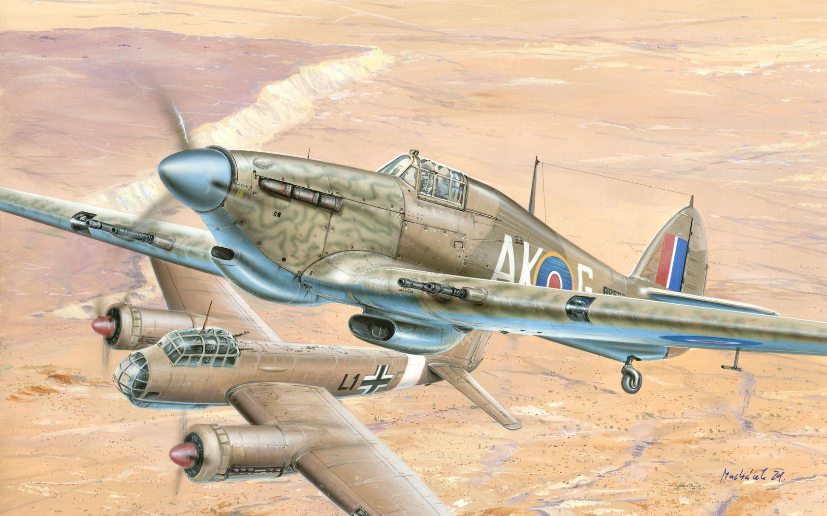 рисунок Hawker Hurricane Mk.IIc Trop