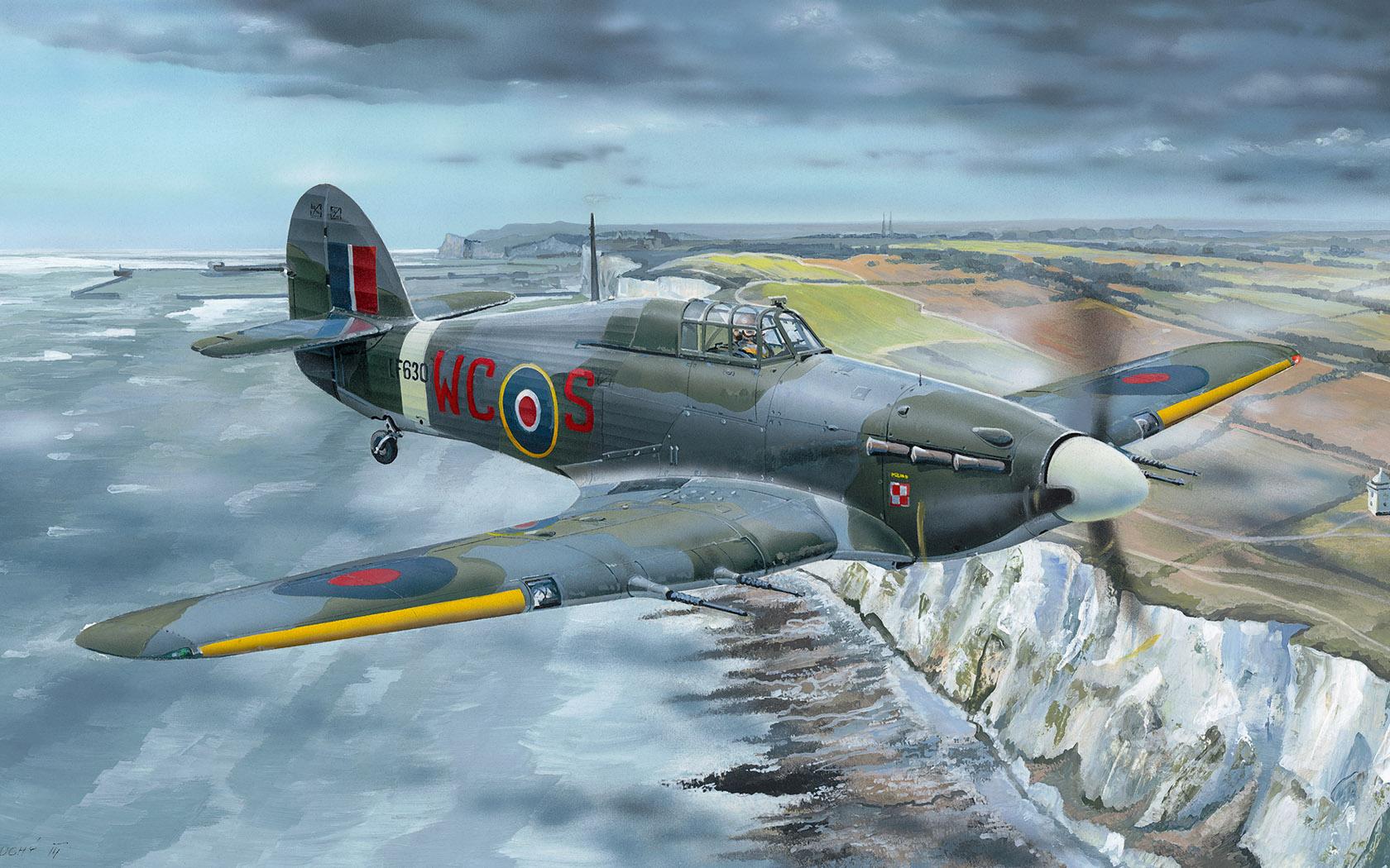 рисунок Hawker Hurricane Mk.IIc