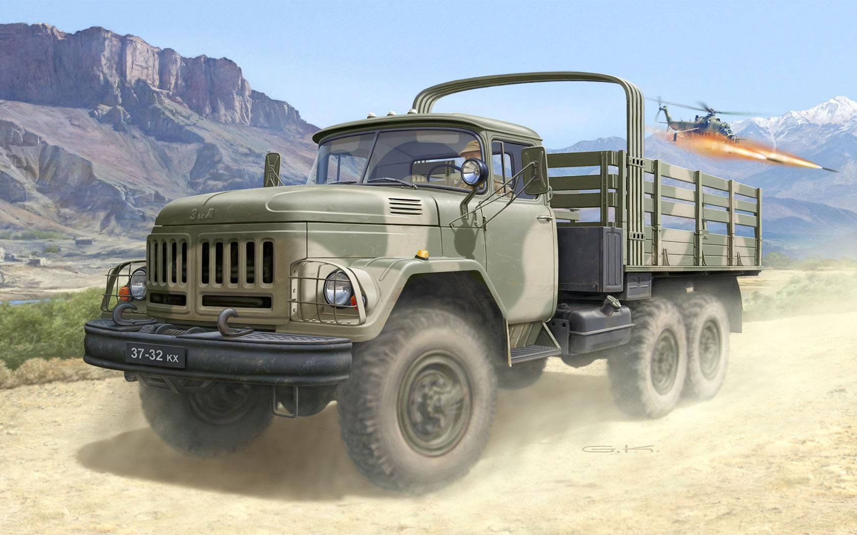 рисунок грузовик ЗиЛ-131