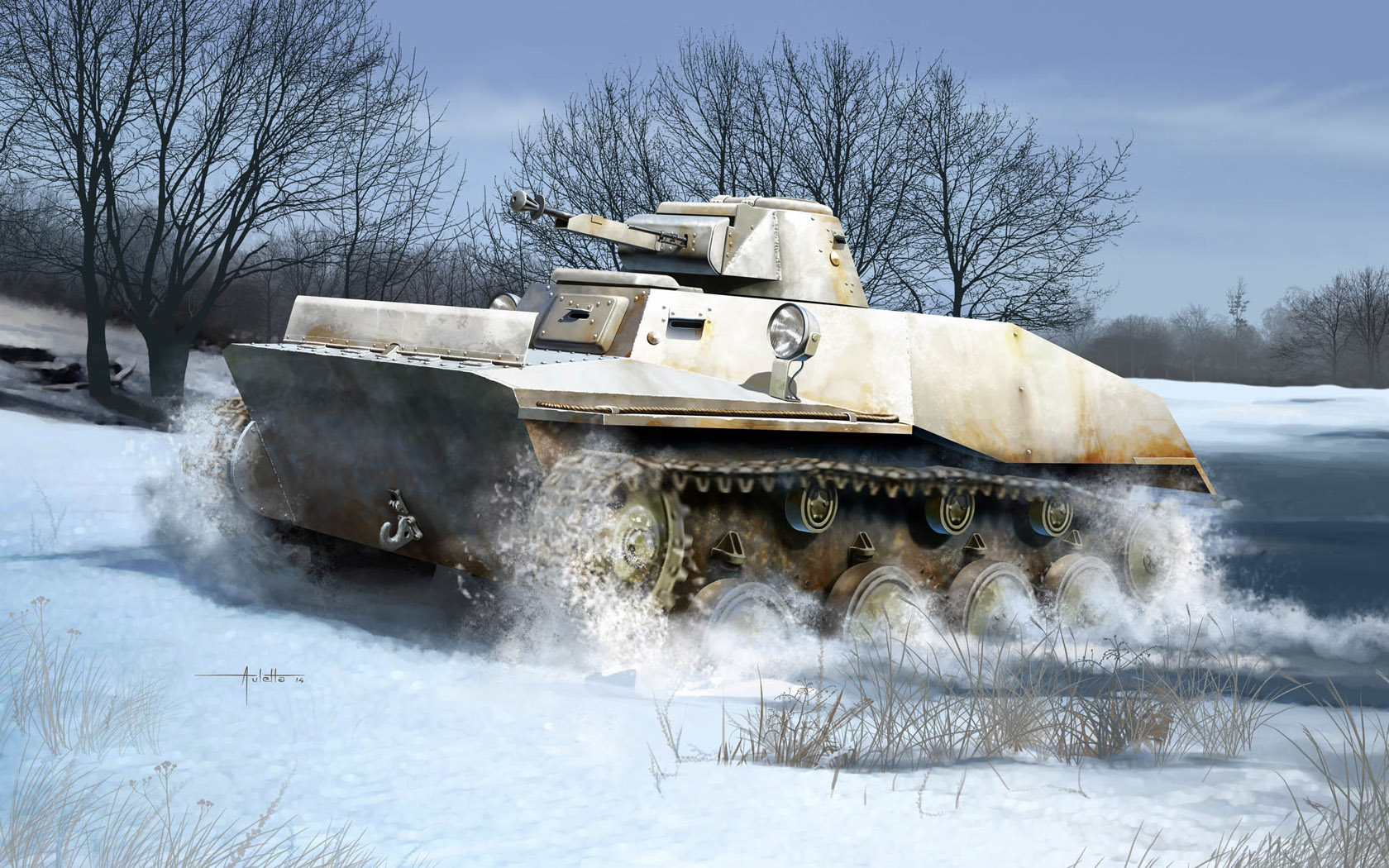 рисунок Танк Т-40
