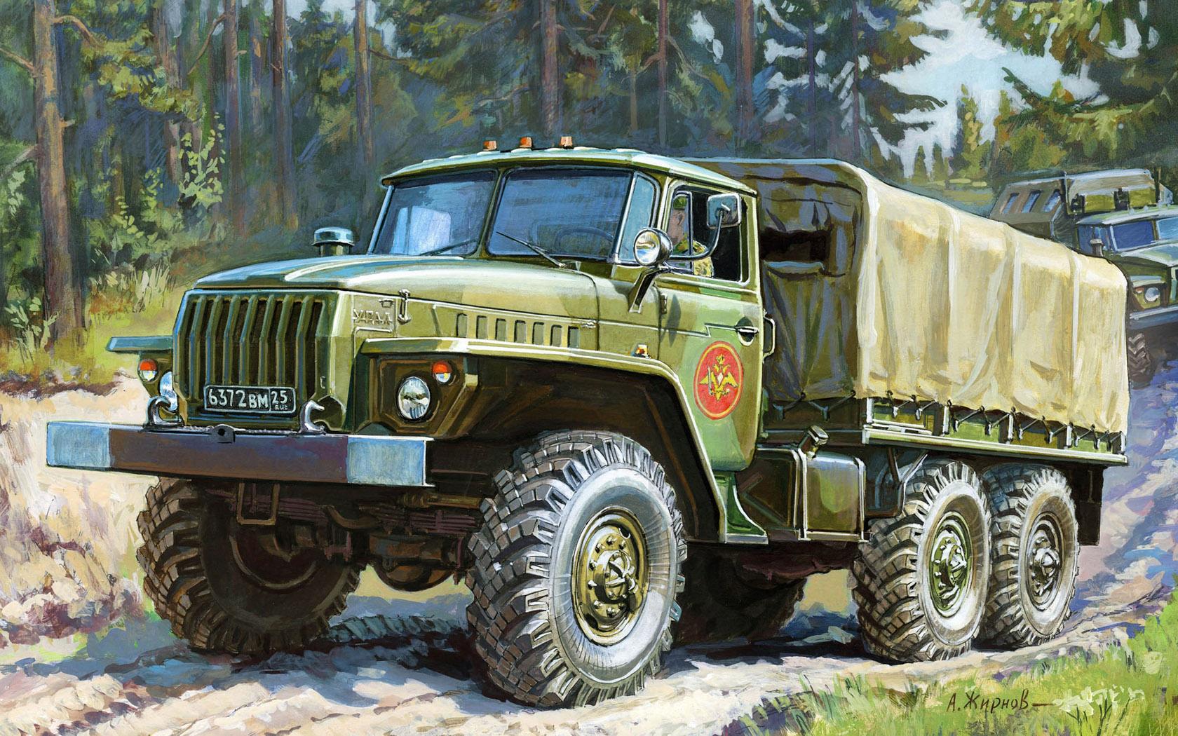 рисунок Урал-4320