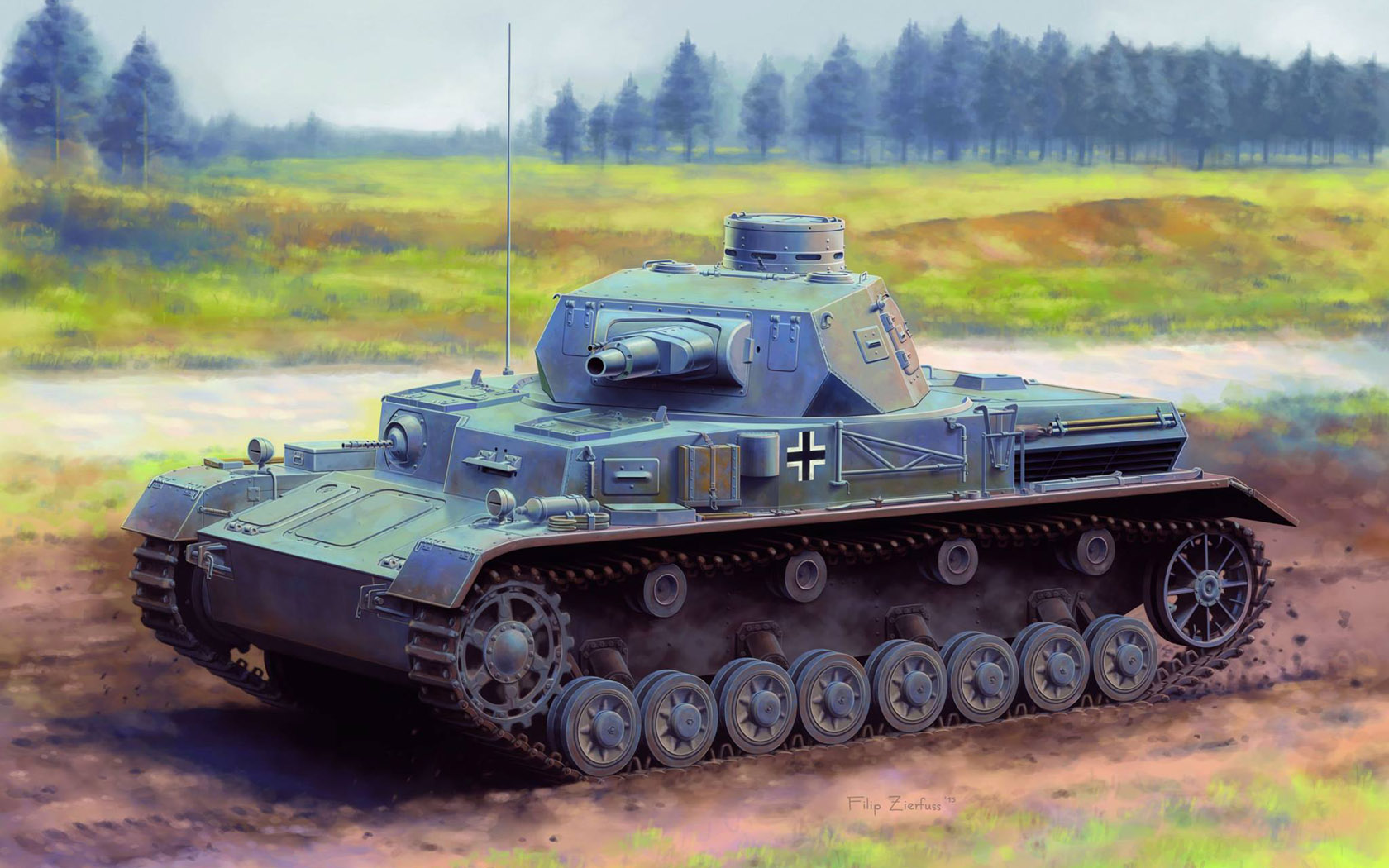 рисунок Pz.Kpfw.IV Ausf.A Up-Armored Version
