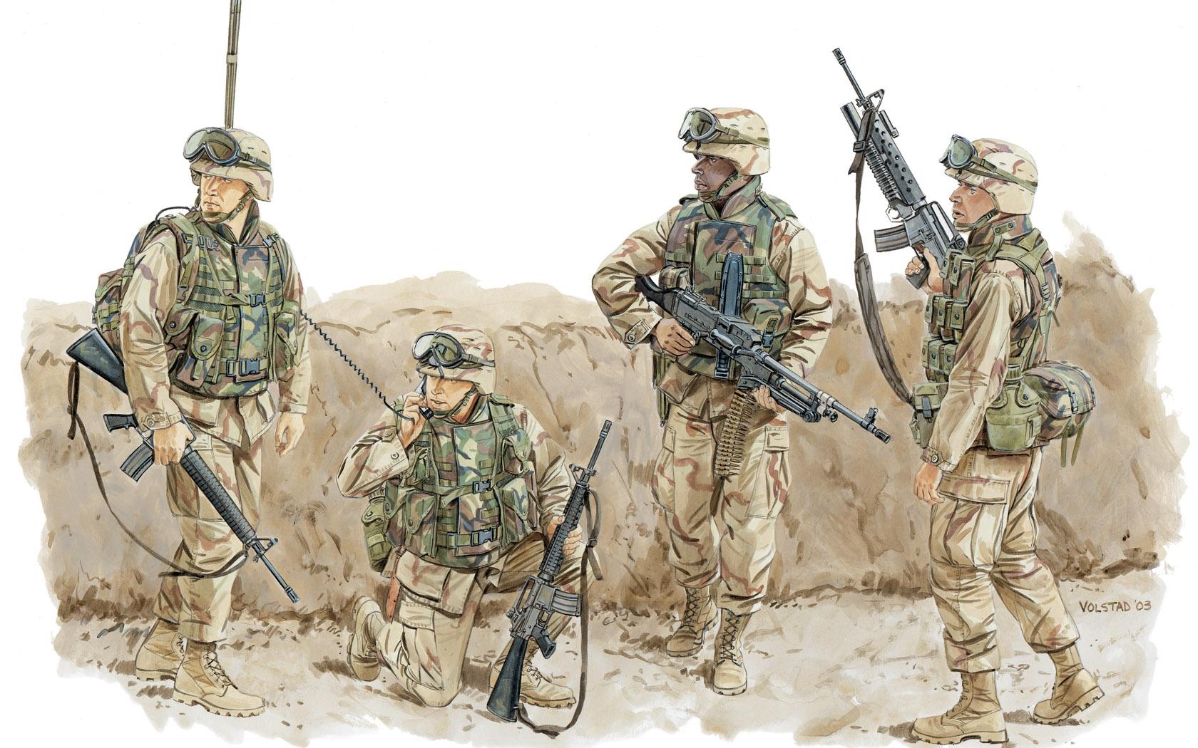 рисунок Modern US Marines