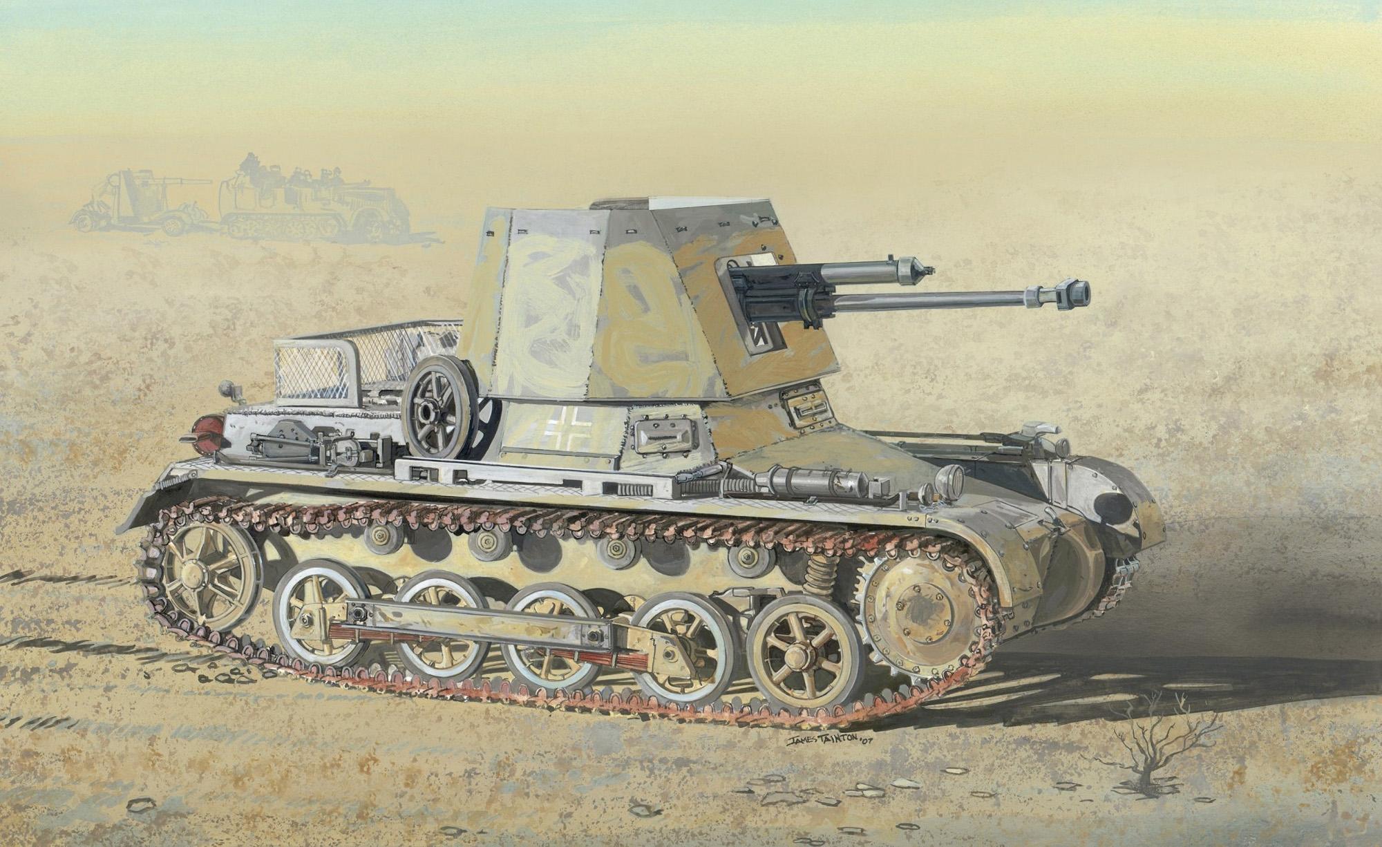 рисунок Panzerjager I 4,7cm PaK (t)