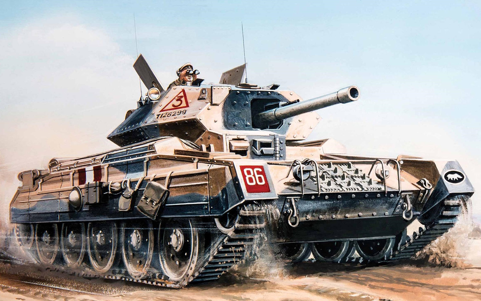 рисунок Crusader MkIII (6-pdr AT gun)