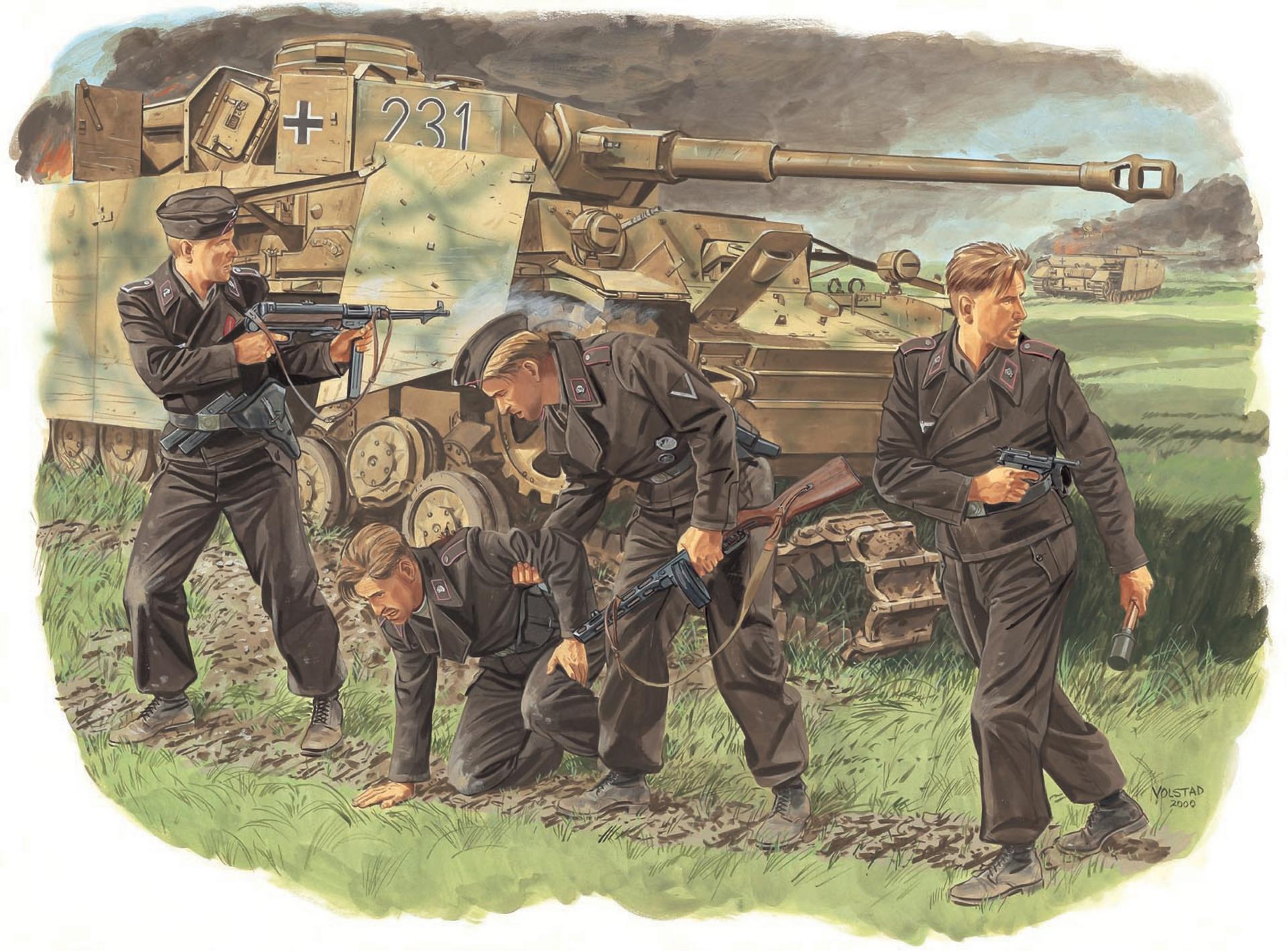 рисунок Survivors, Panzer Crew (Kursk 1943)