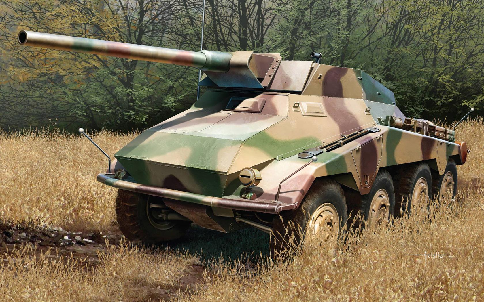 рисунок Sd.Kfz.234/4 mit 7.5cm L/48