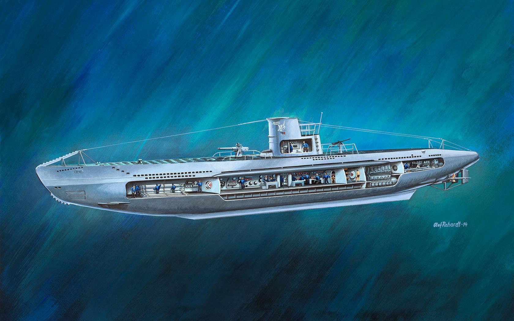 рисунок German Submarine U-47