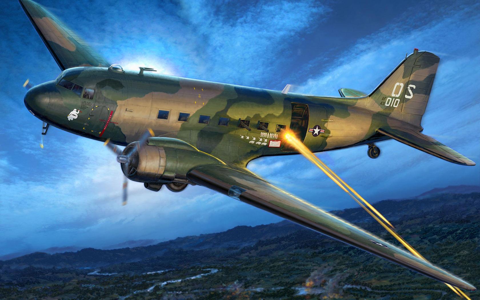 рисунок AC-47D Gunship