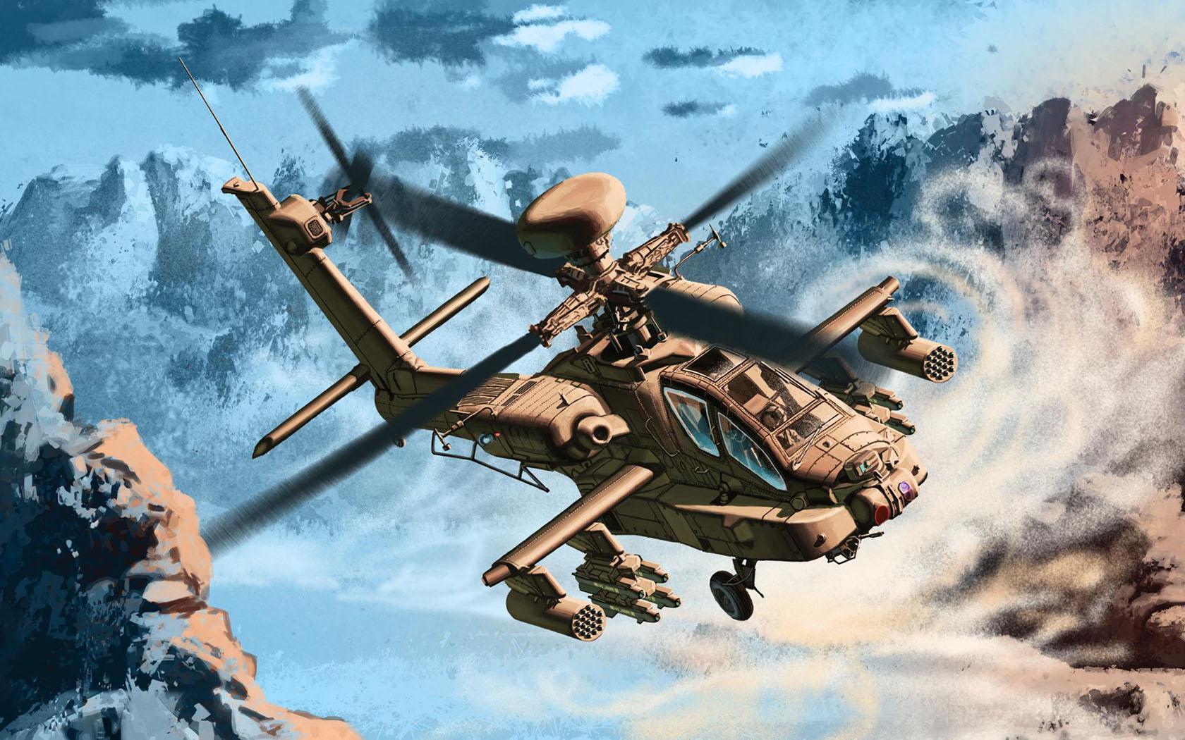 рисунок Boeing AH-64 Longbow II