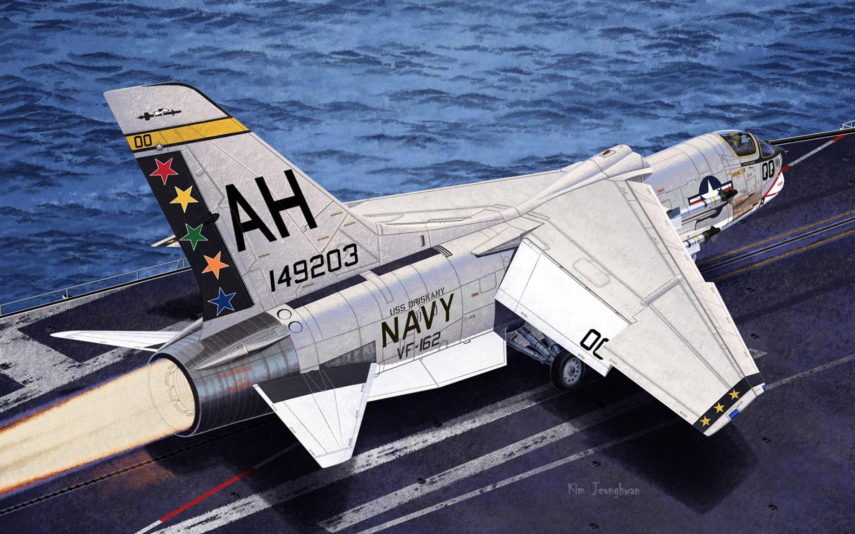 рисунок F-8E VF-162