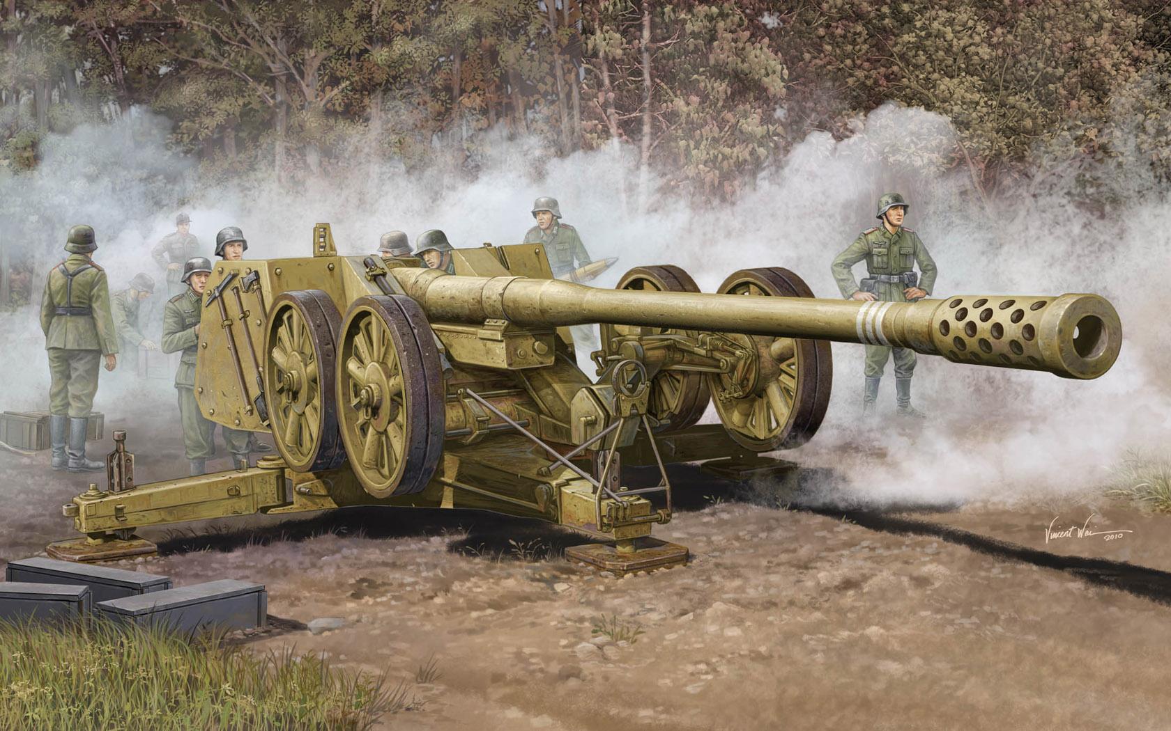 рисунок German 128mm Pak44