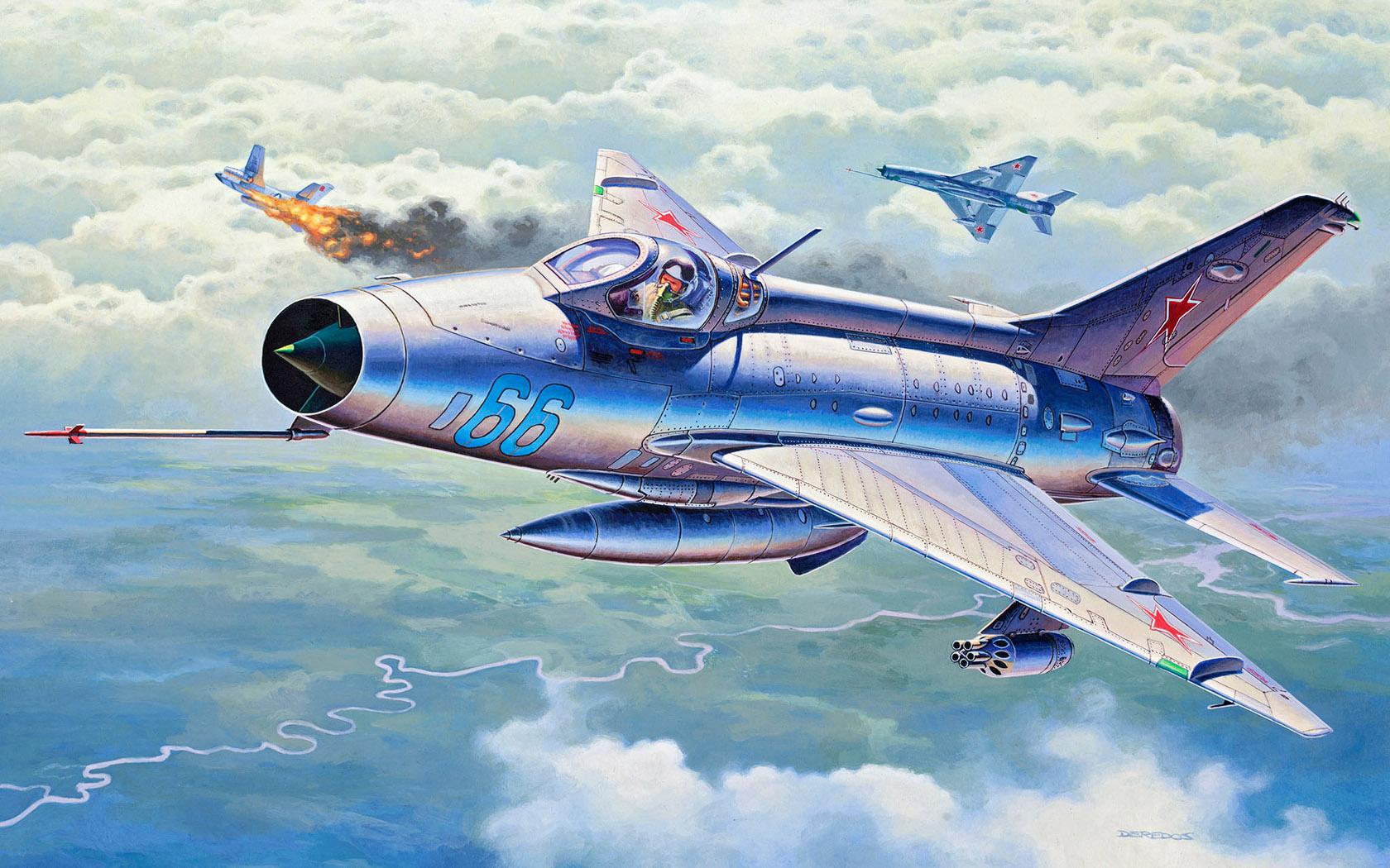 рисунок MiG-21 F-13 Fishbed C