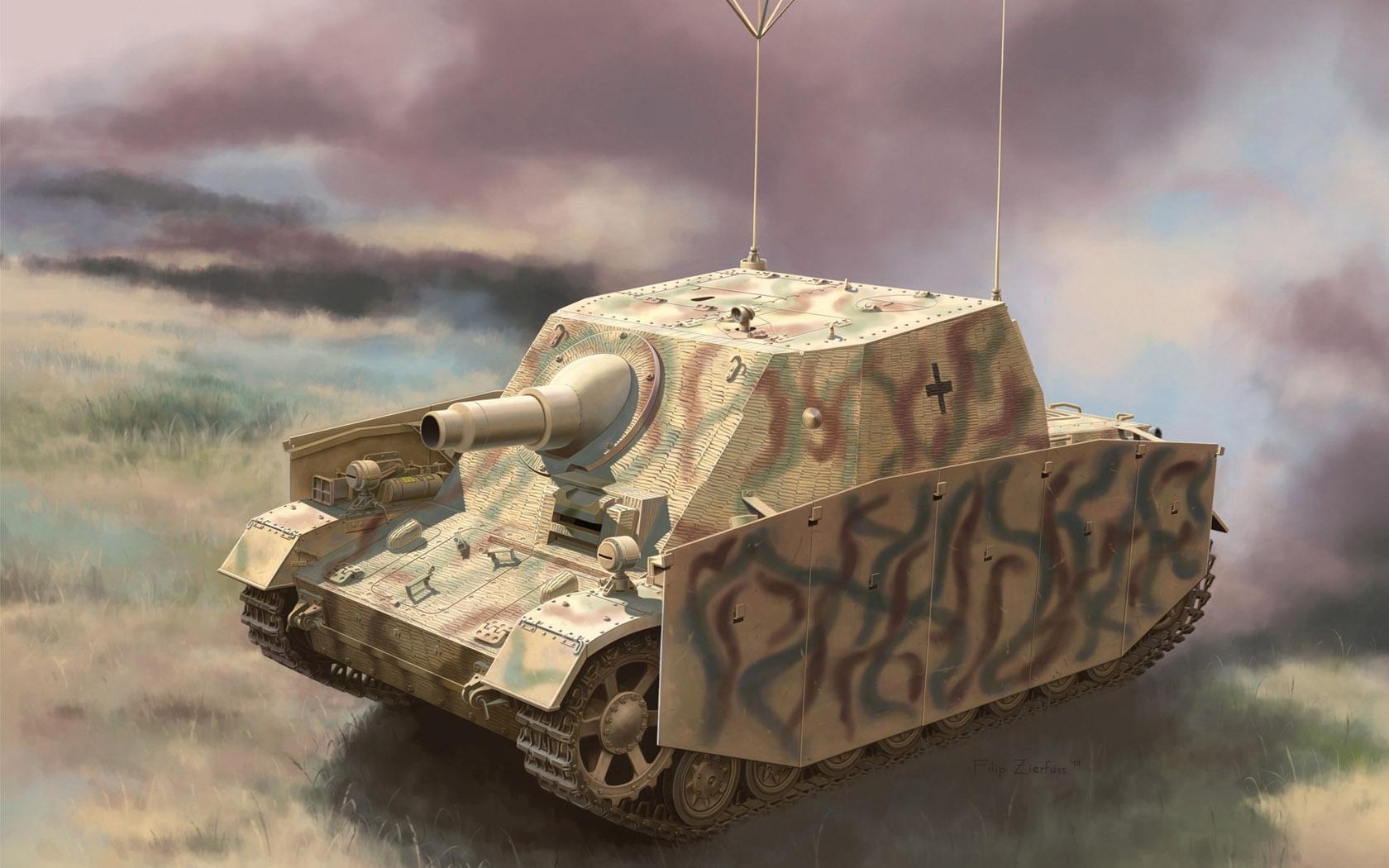рисунок Sturmpanzer Ausf.I als Befehlspanzer