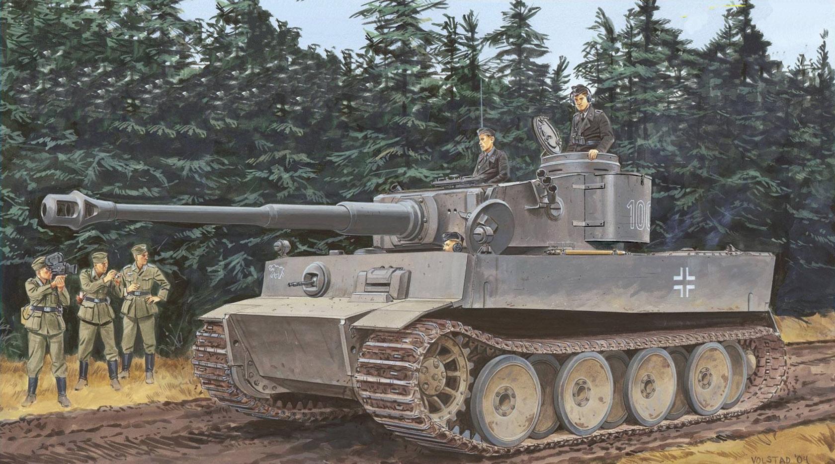рисунок Pz.Kpfw.VI Ausf.E Tiger I Initial Production