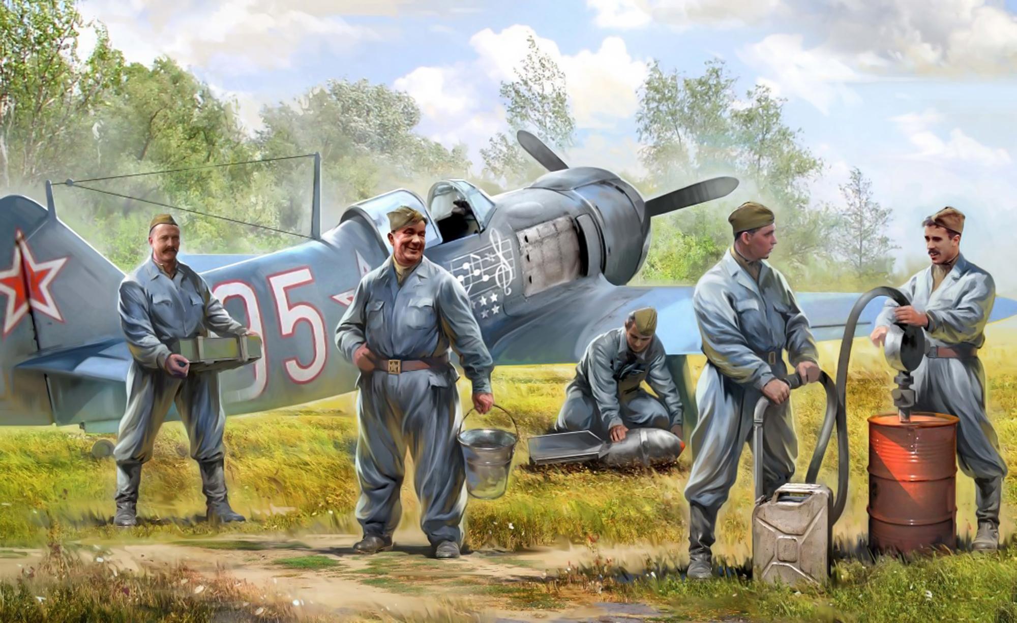 рисунок Советские авиационные техники