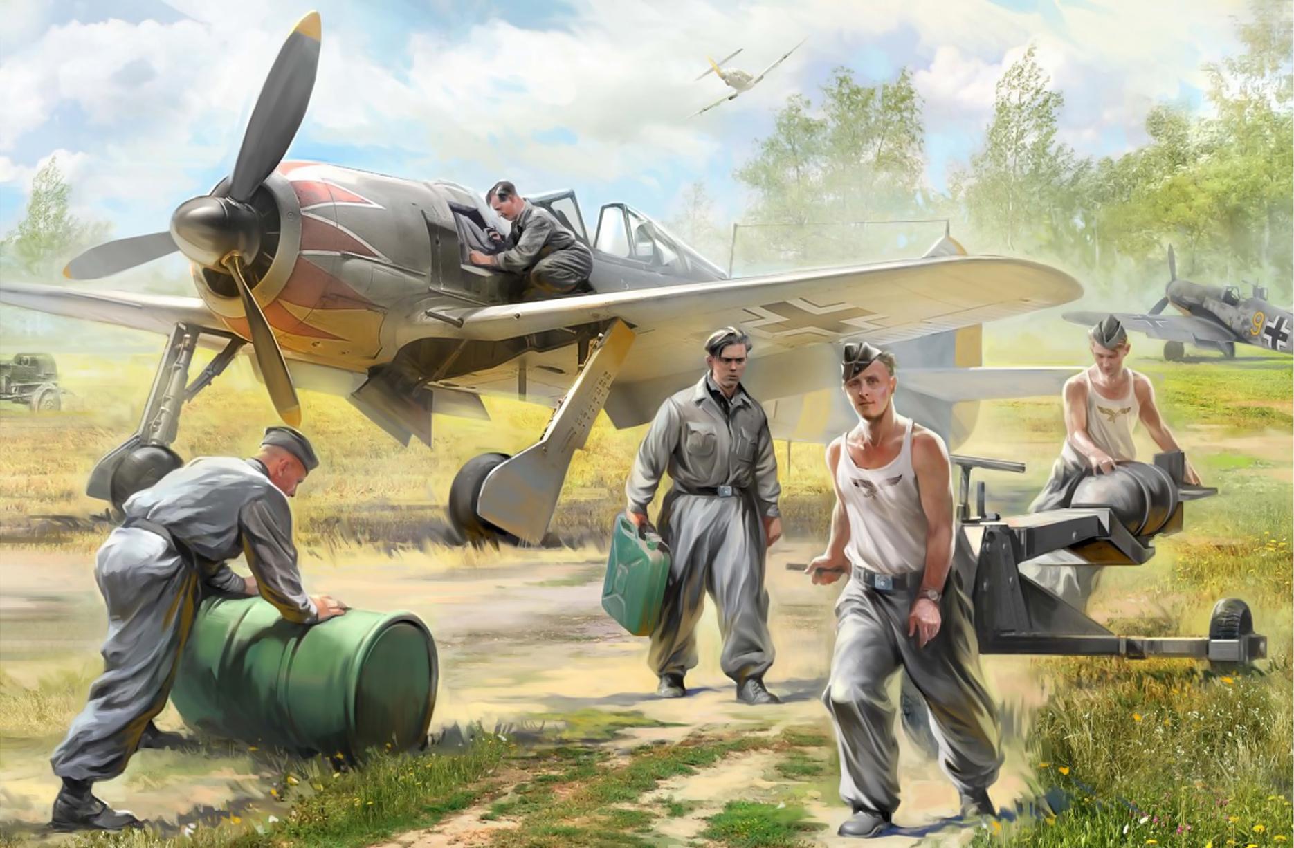 рисунок немецкие авиационные техники