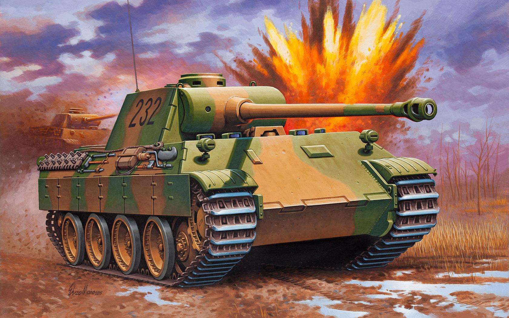 "рисунок Pz.Kpfw. V  Ausf. D ""Panther"""