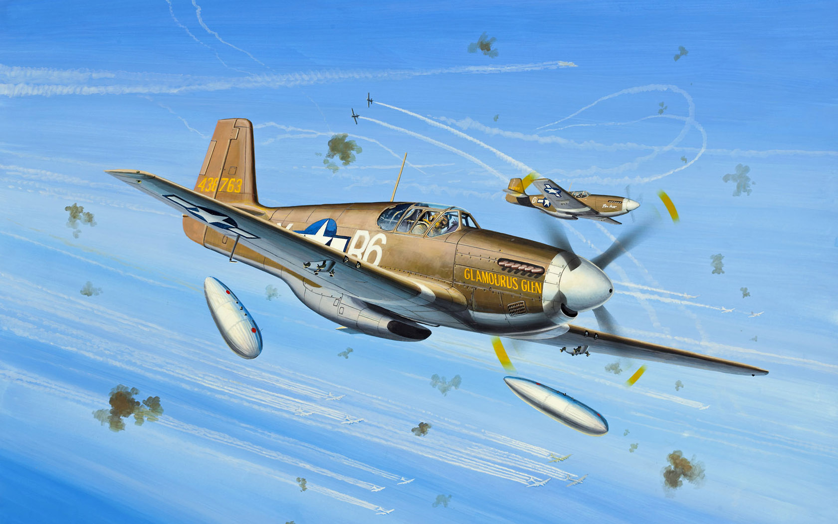 рисунок P-51B Glamourus Glen