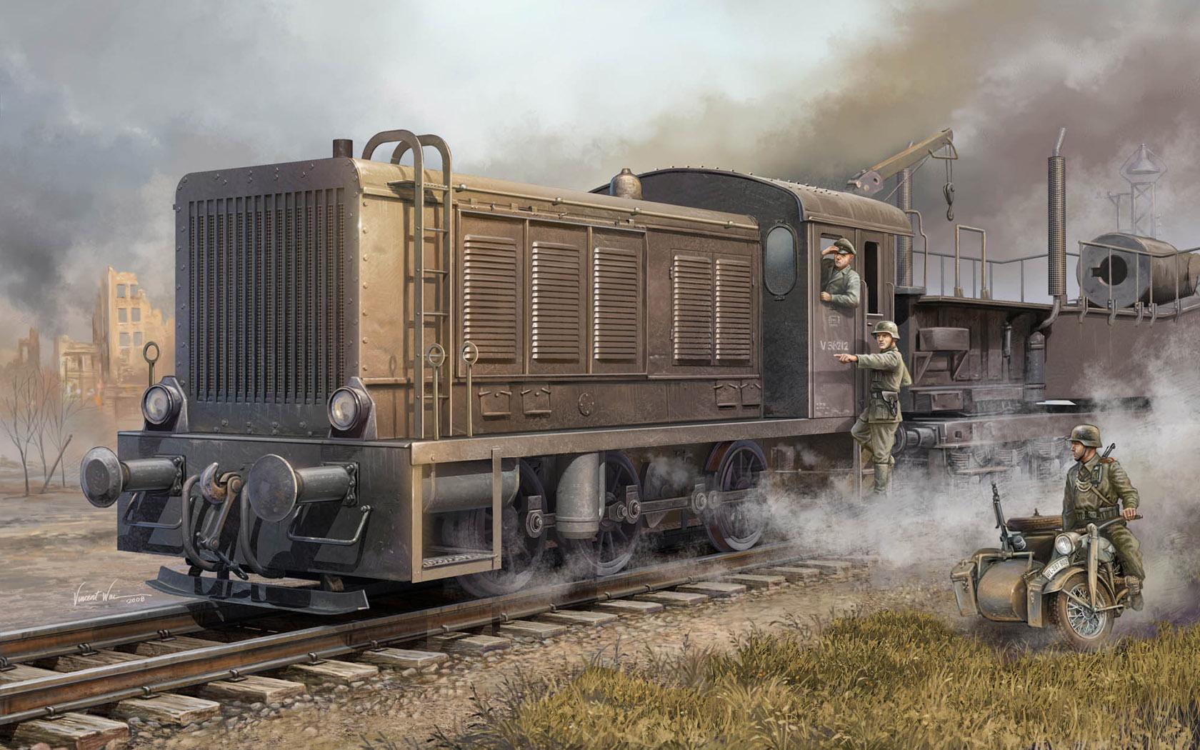 рисунок German WR 360 C12 Locomotive
