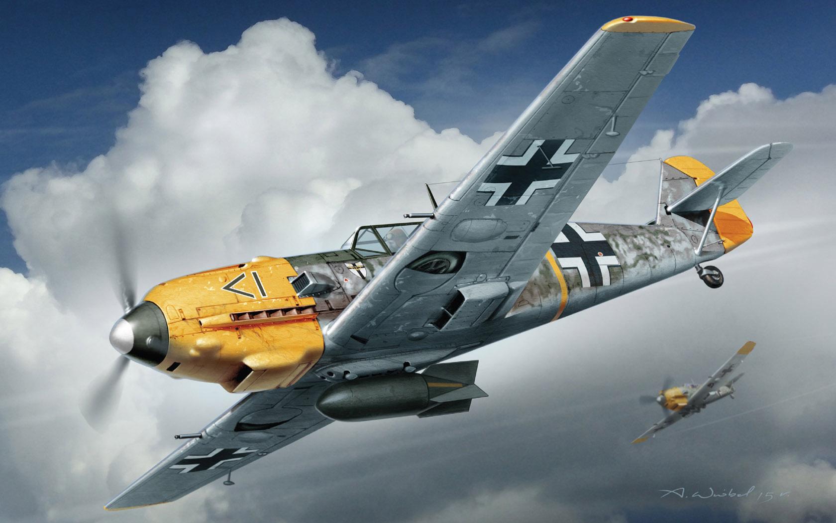рисунок Bf109E-4/B