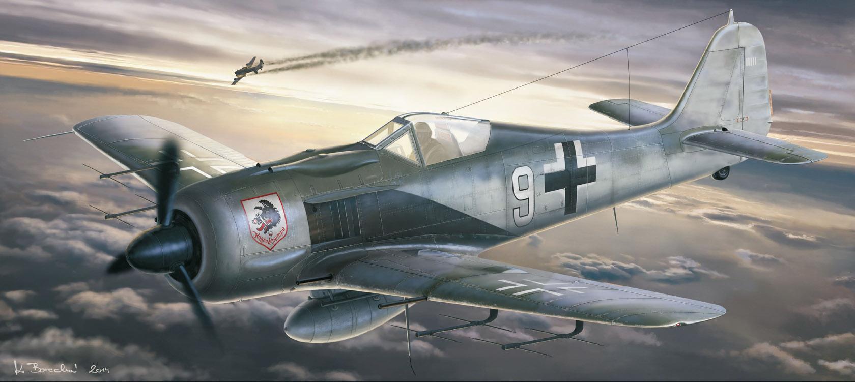 рисунок Fw-190 Nachtjager