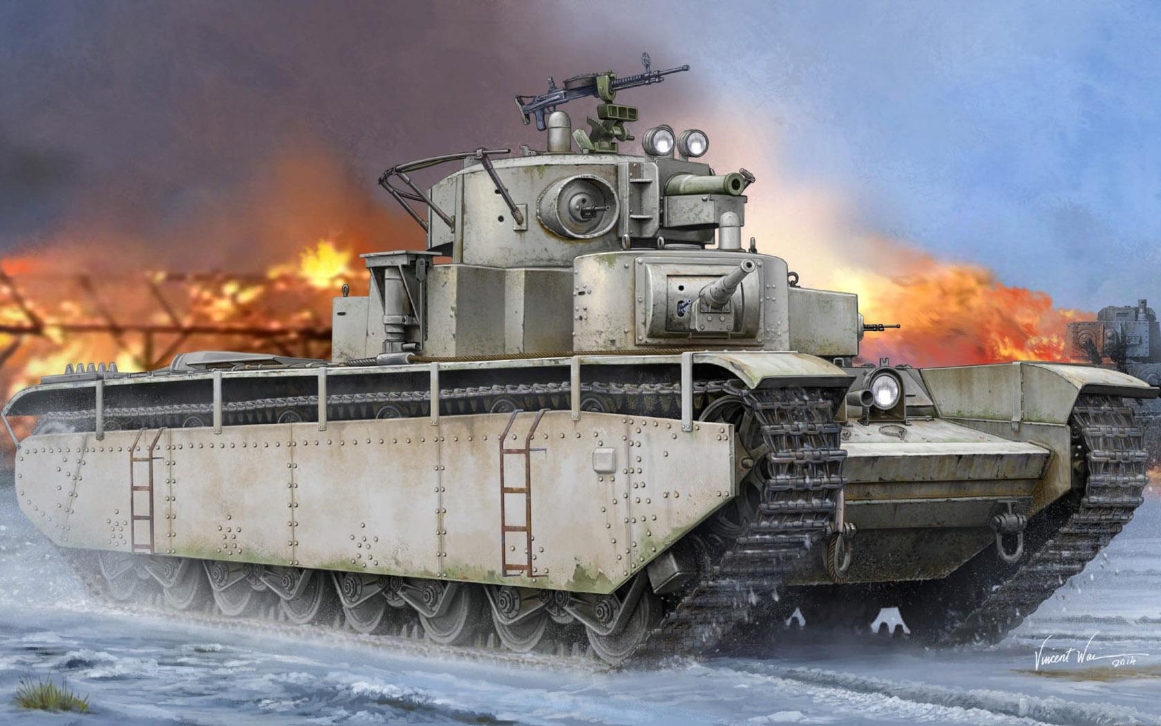 рисунок Тяжелый танк Т-35