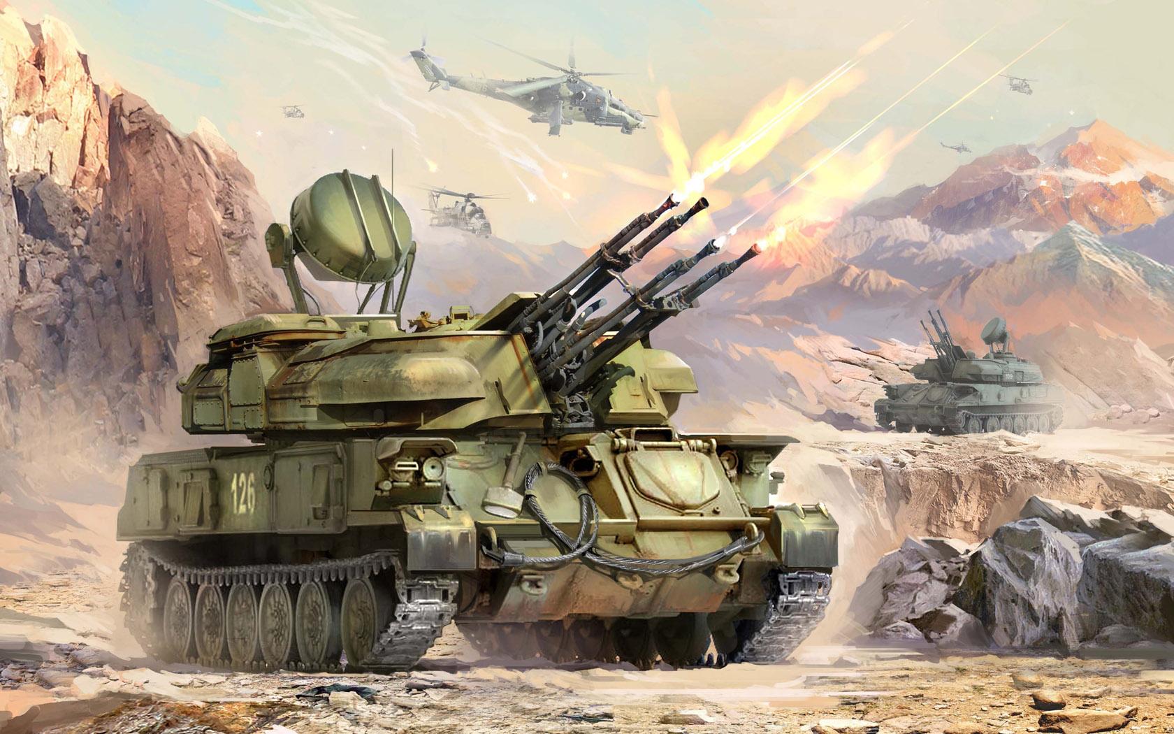 рисунок ЗСУ-23-4