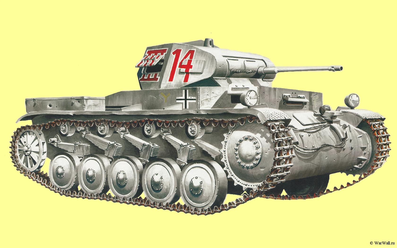 рисунок Pz.Kpfw. II Ausf. A