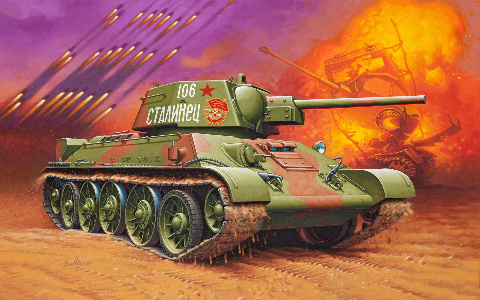 "рисунок Т-34/76 ""Сталинец"""