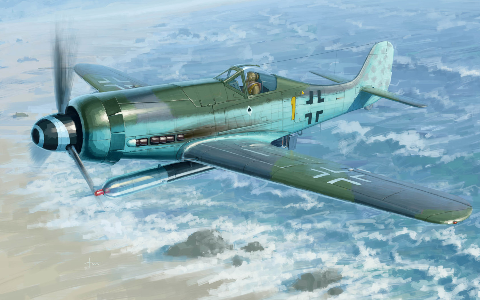 рисунок Focke-Wulf FW190D-12 R14