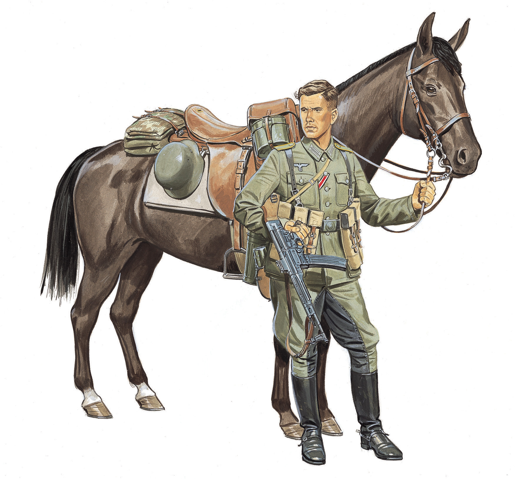 рисунок Wehrmacht Cavalry
