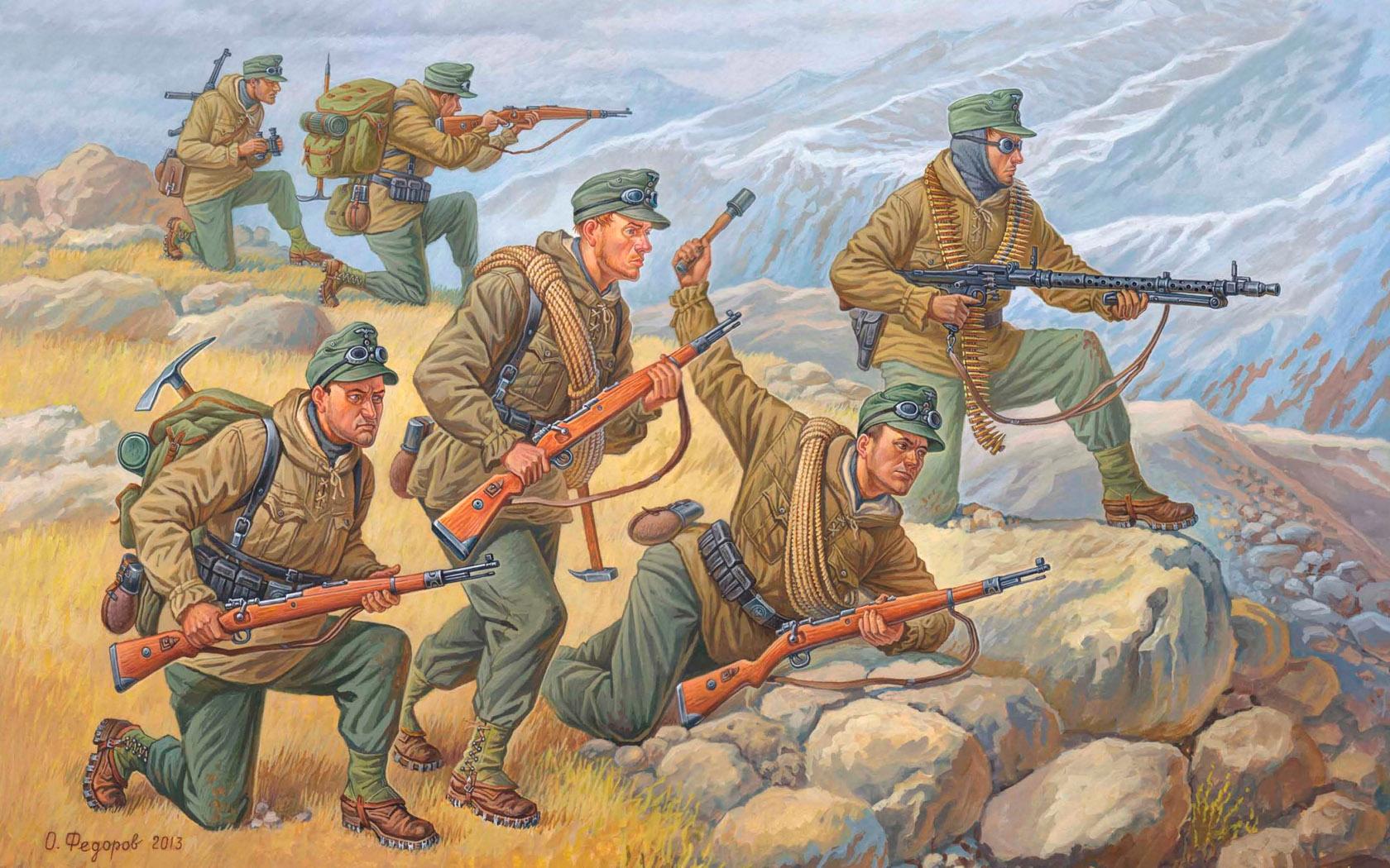 рисунок горные стрелки Эдельвейс