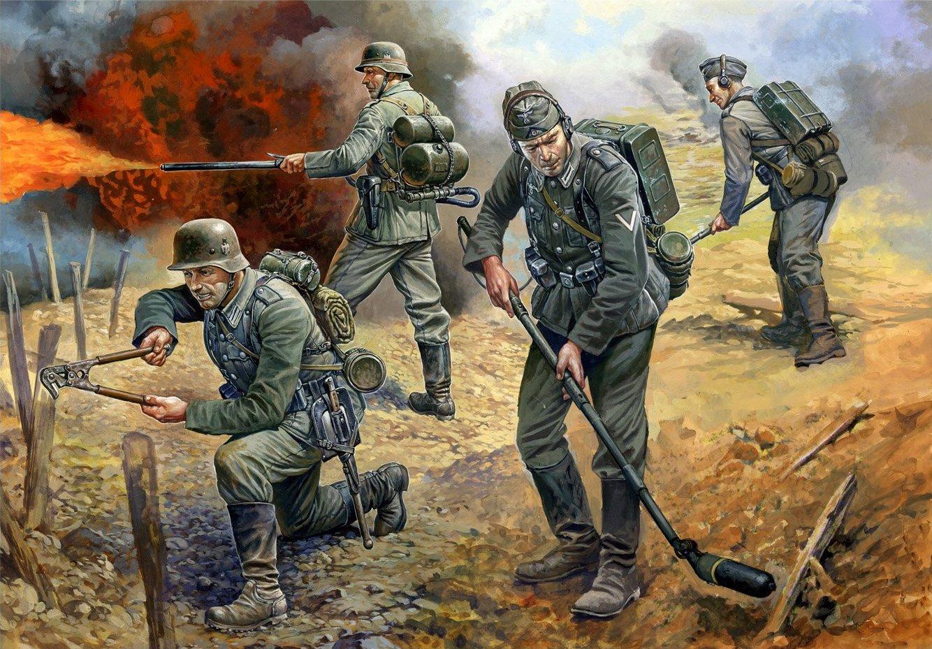 рисунок немецкие штурмпионеры