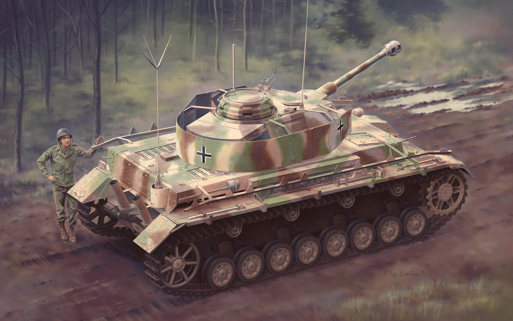 рисунок Panzerbefehlswagen IV (Pz.Bef.Wg.IV) Ausf.J