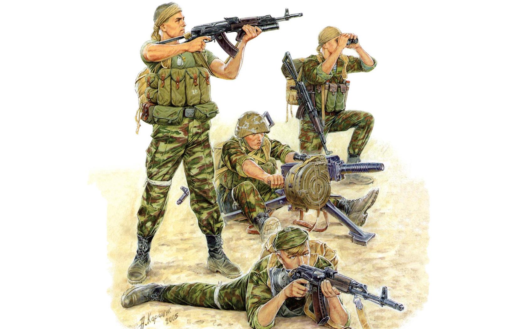 рисунок Российский спецназ