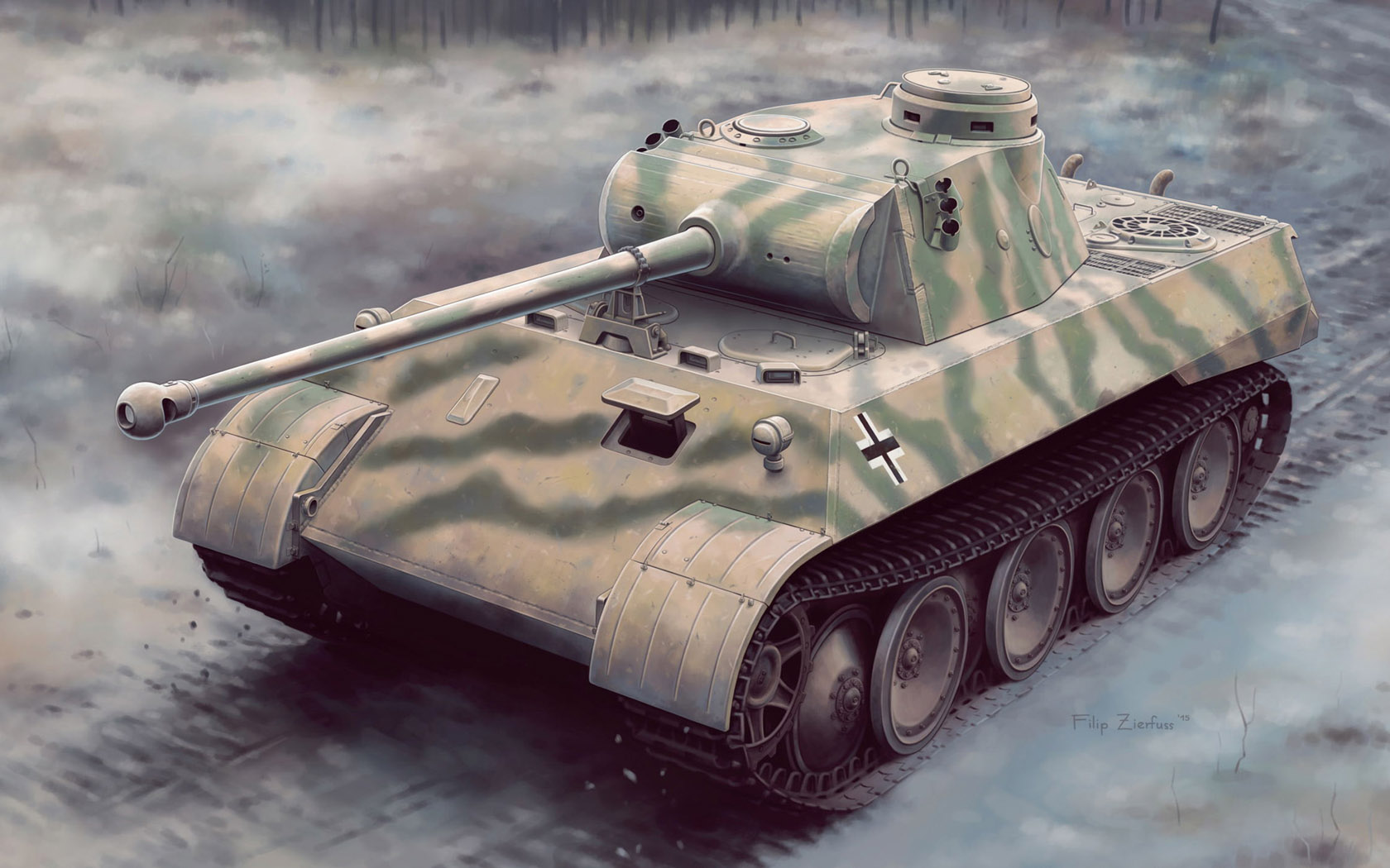 рисунок Panther Ausf.D V2