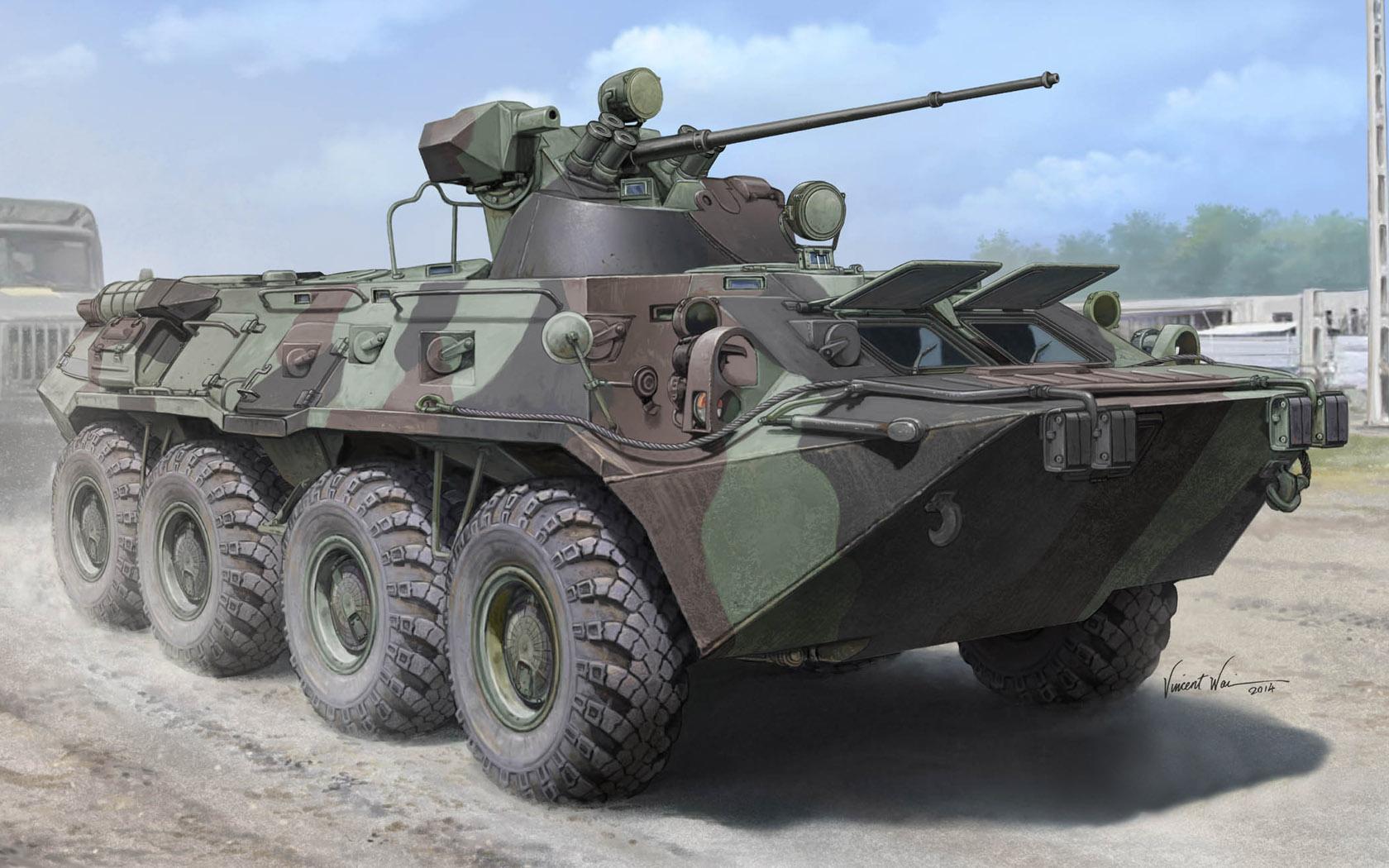 рисунок бронетранспортер БТР-80А