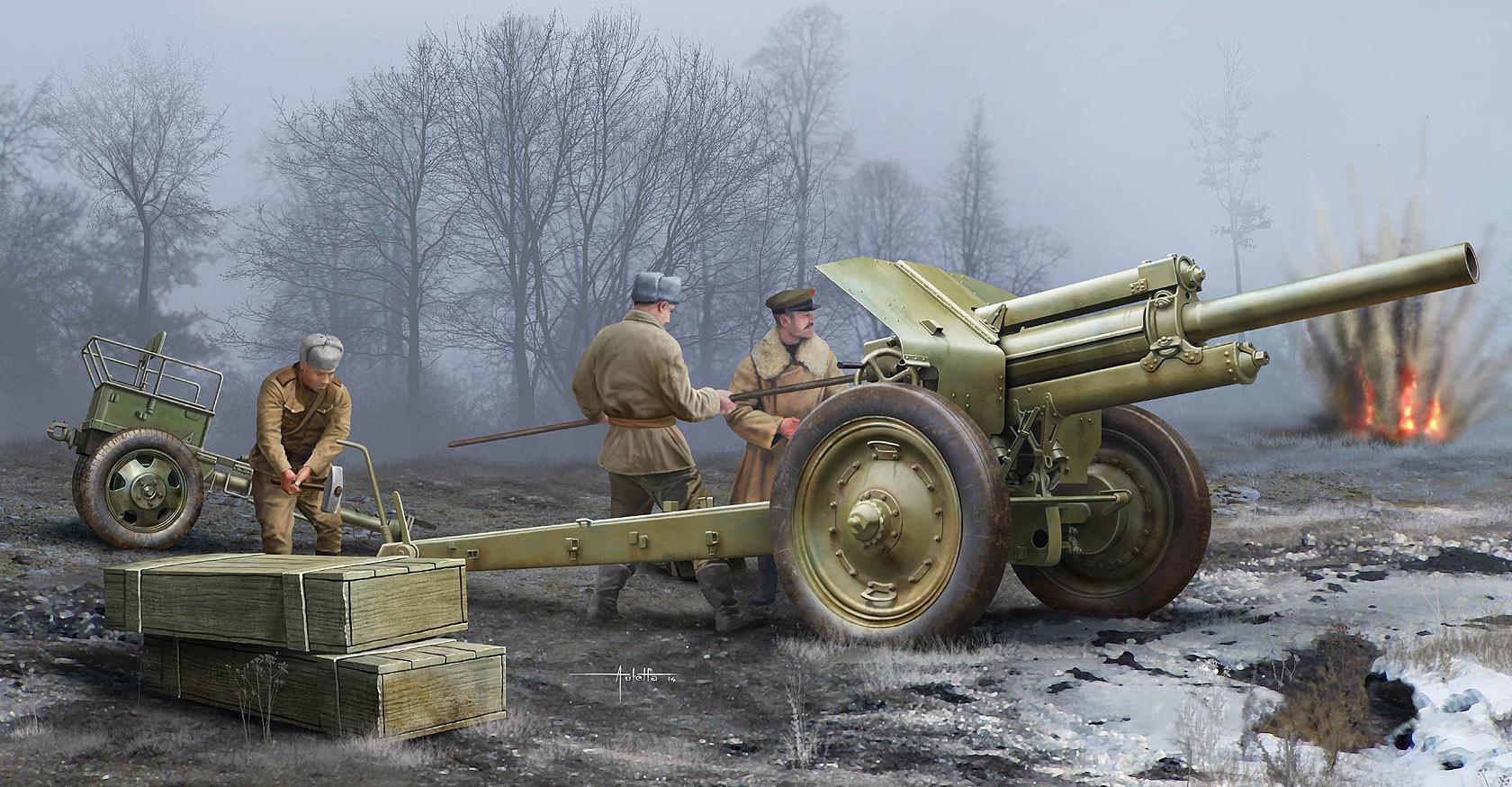 рисунок М-30 на огневой позиции