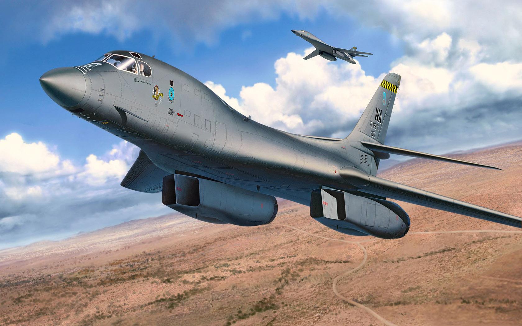 рисунок B-1B Bomber