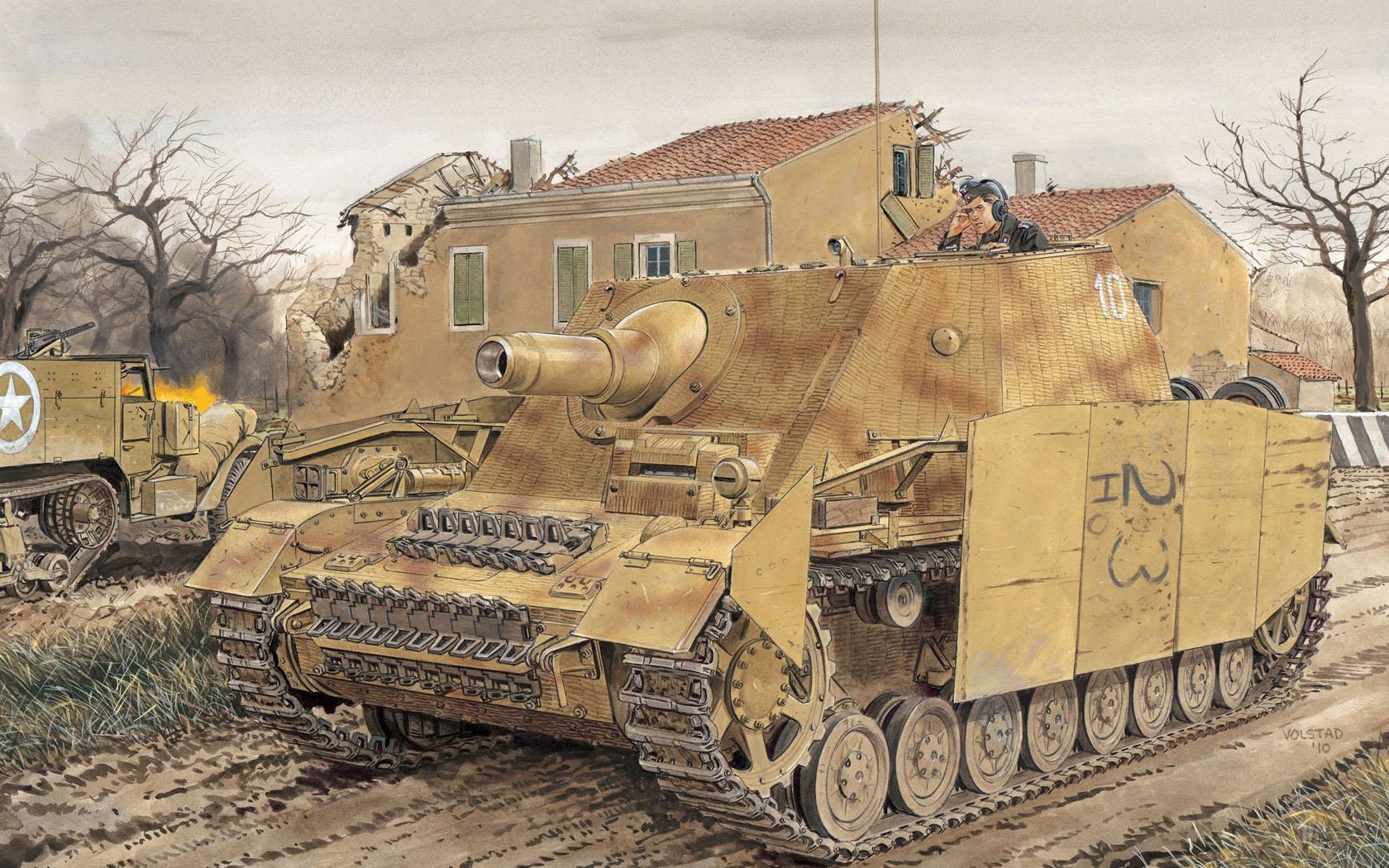 """рисунок Sd.Kfz. 166 Stu.Pz IV """"Brummbar"""""""